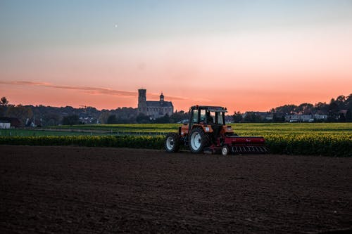 Immagine gratuita di agricoltura, alba, aratro, azienda agricola