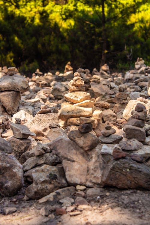 圓石, 石, 金黃色, 黃色 的 免費圖庫相片