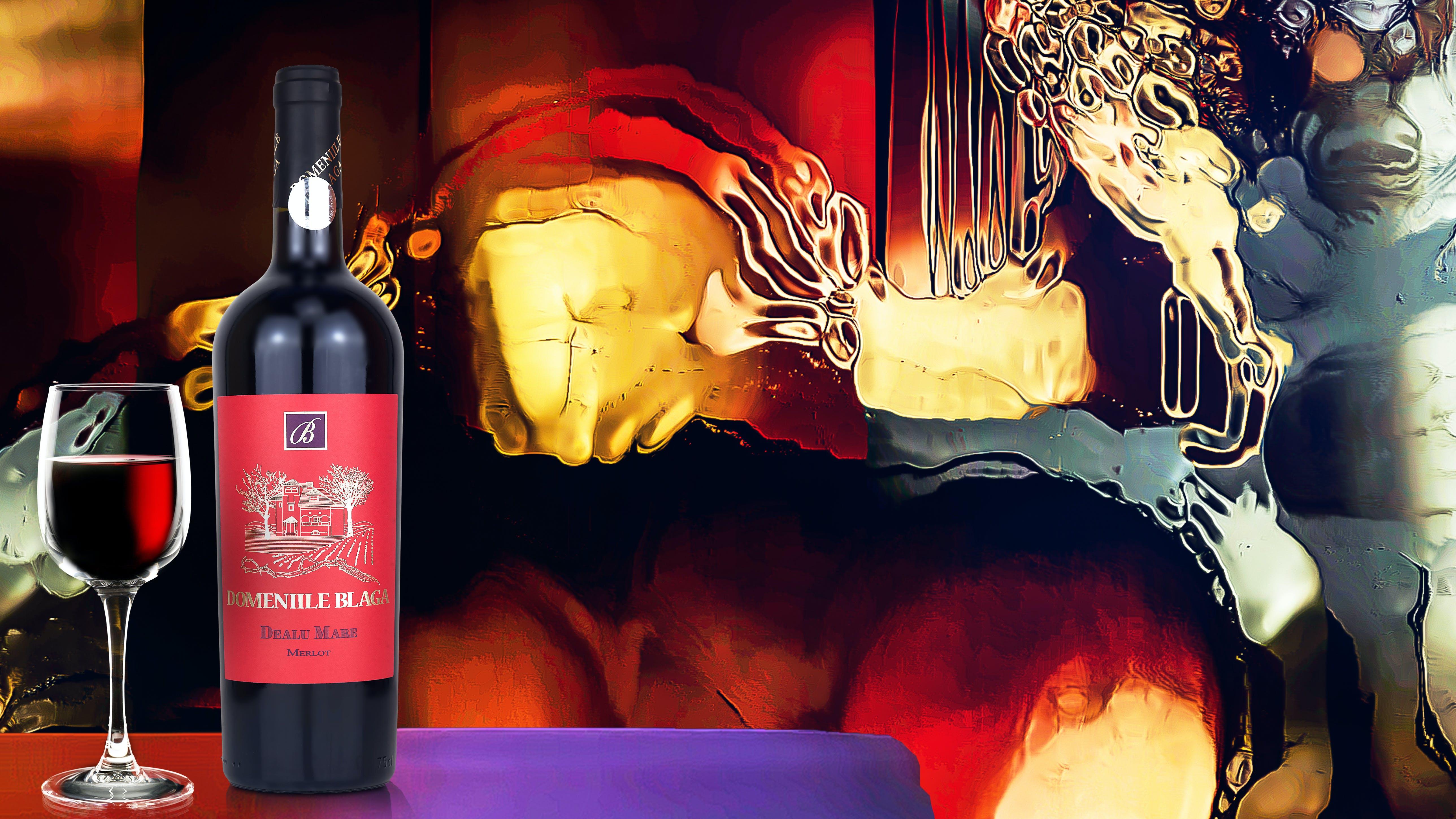 Free stock photo of bottles, domeniile blaga, merlot, romania
