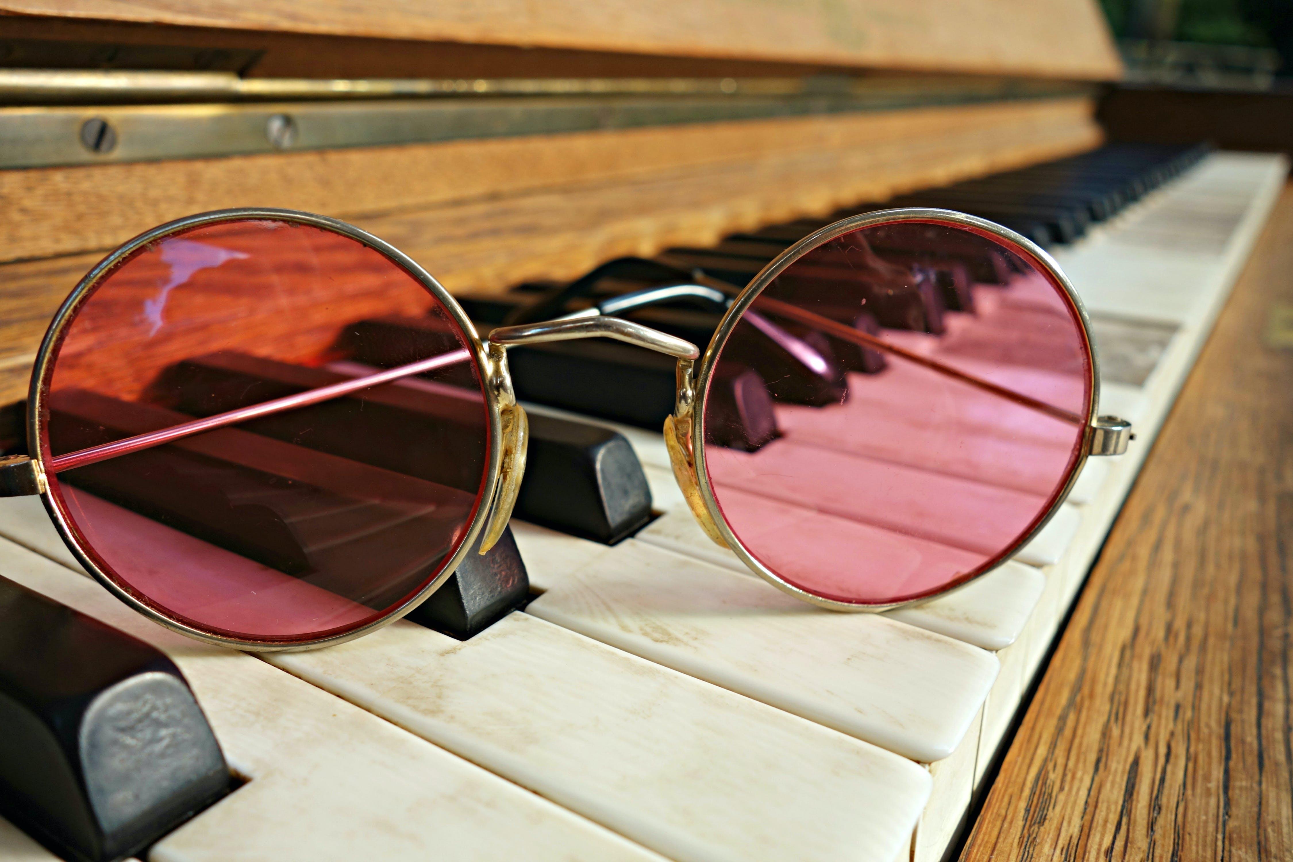 88, glasses, music