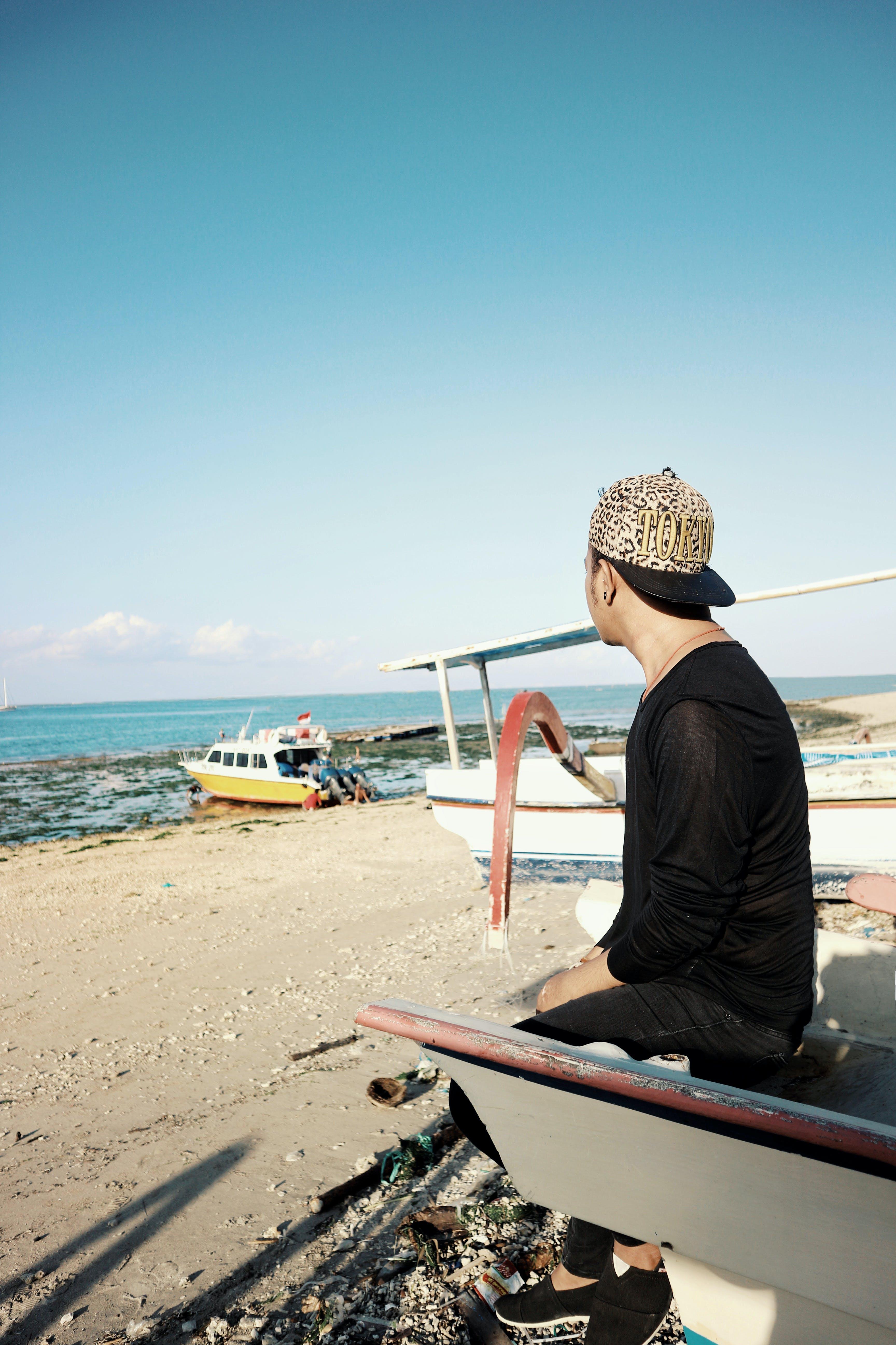 남자, 모래, 바다, 발리의 무료 스톡 사진