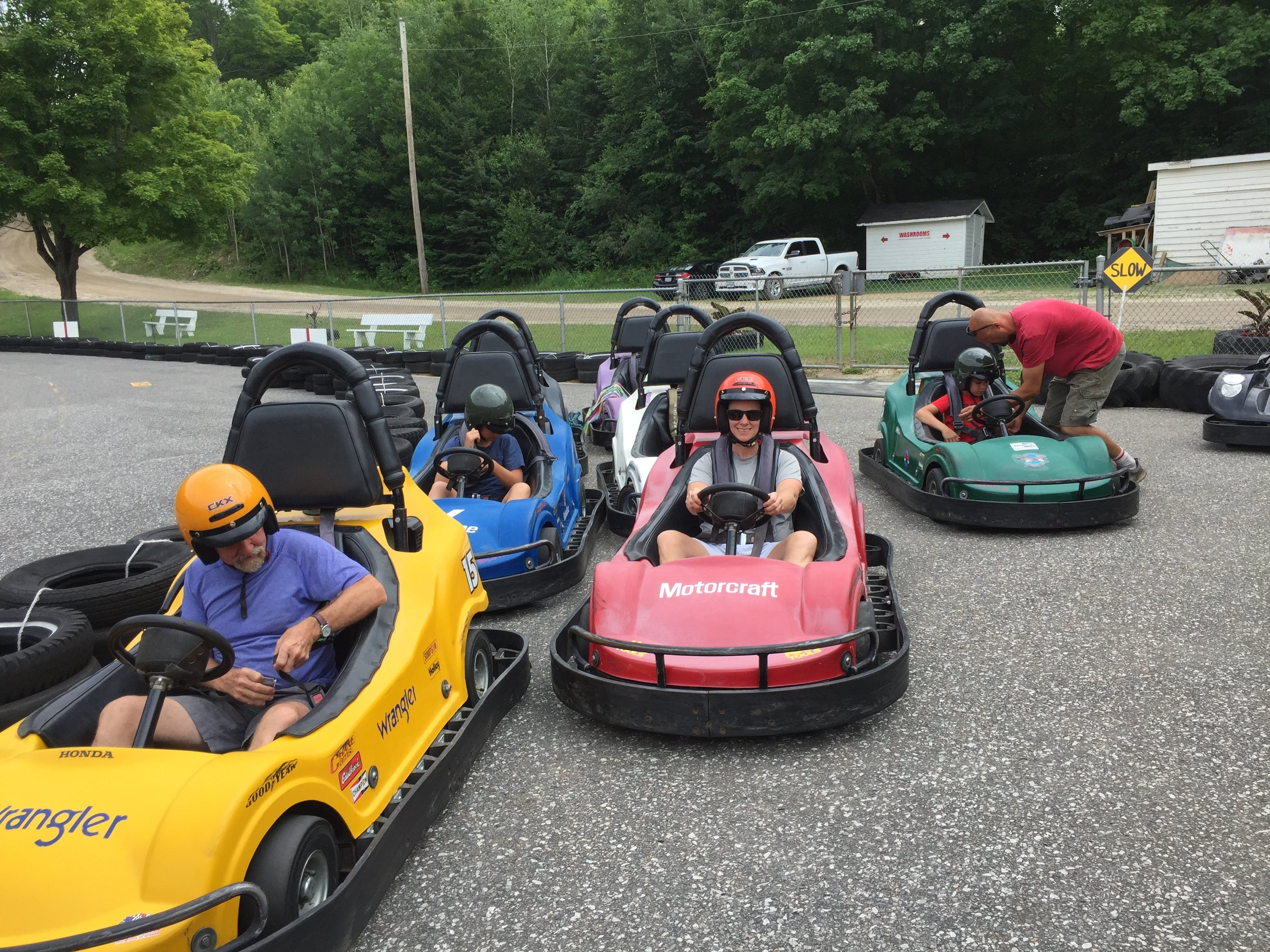 Free stock photo of go carts, Race day at the cart track