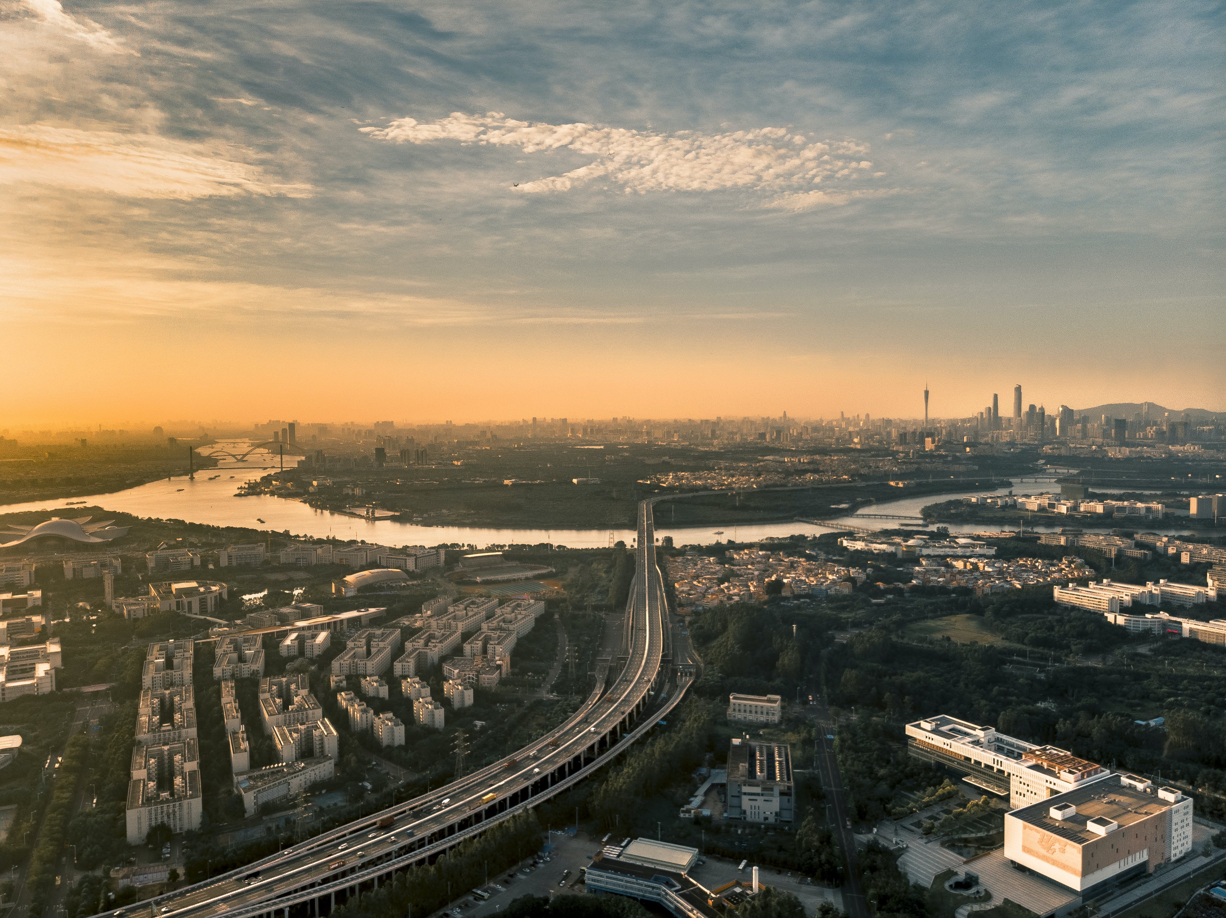 Aerial View Of Expressway