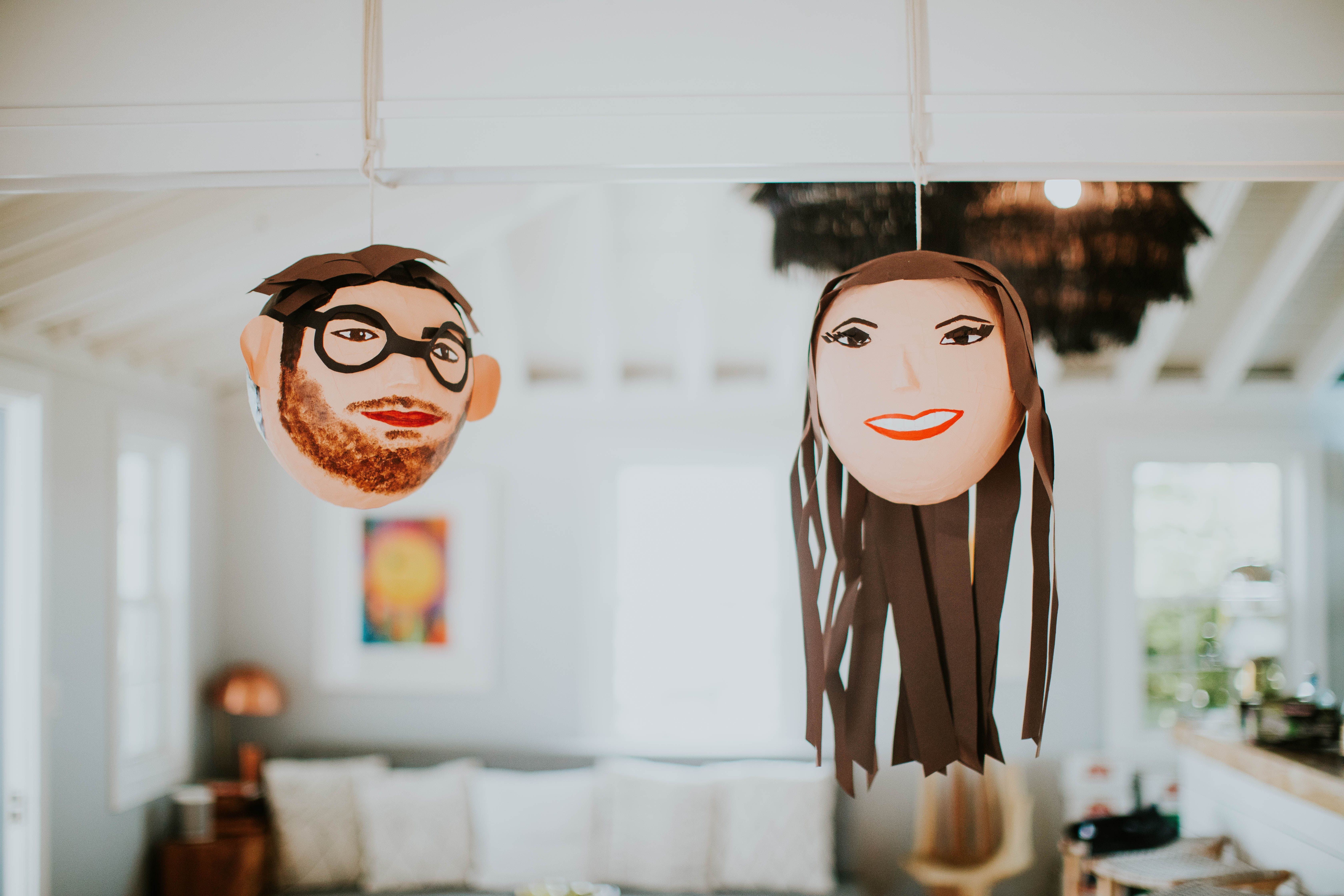 Two Brown Head Decorations