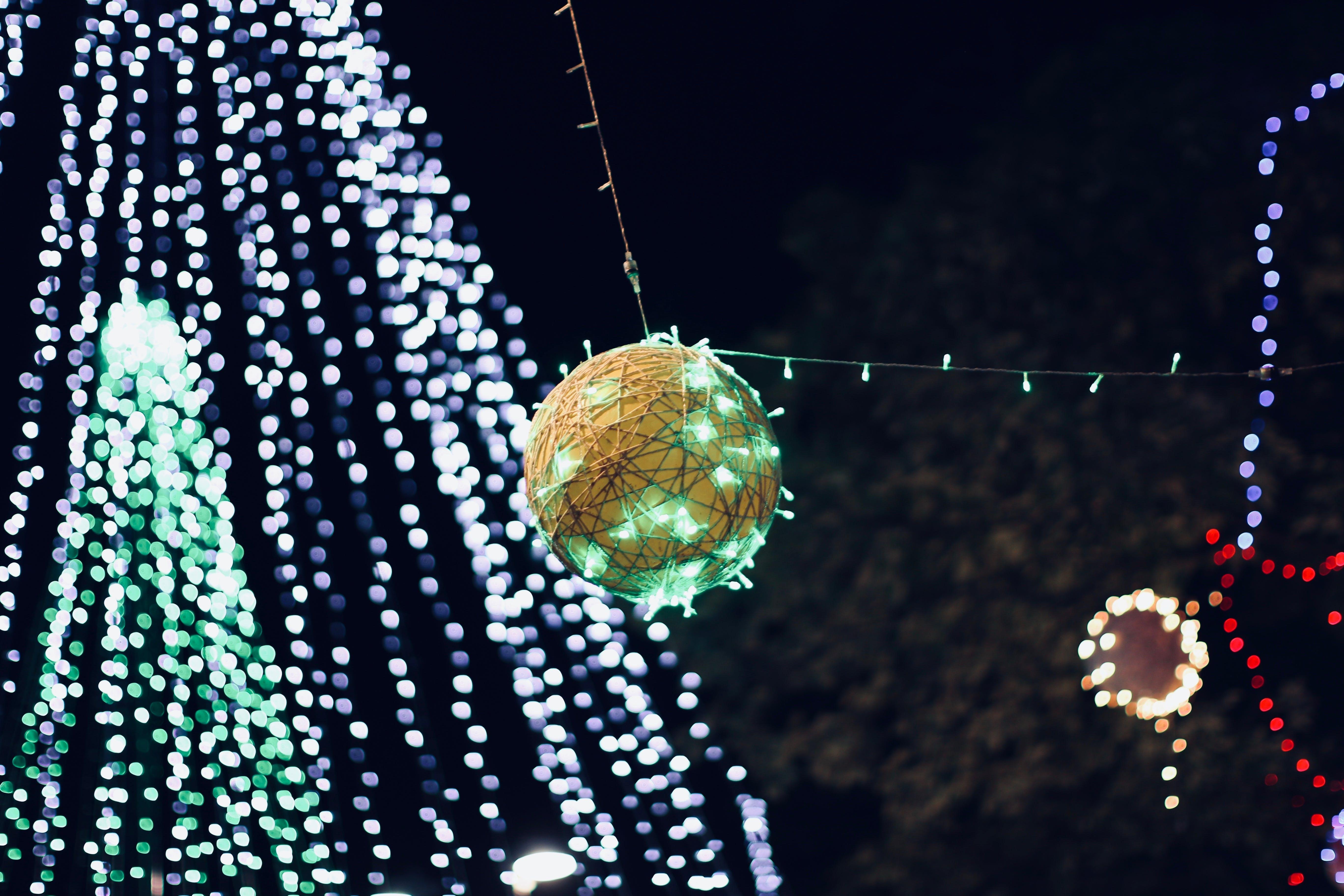 Free stock photo of bauble, christmas balls, christmas tree, light glare
