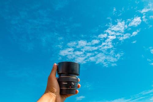 Gratis lagerfoto af blå, blå himmel, Canon, close-up