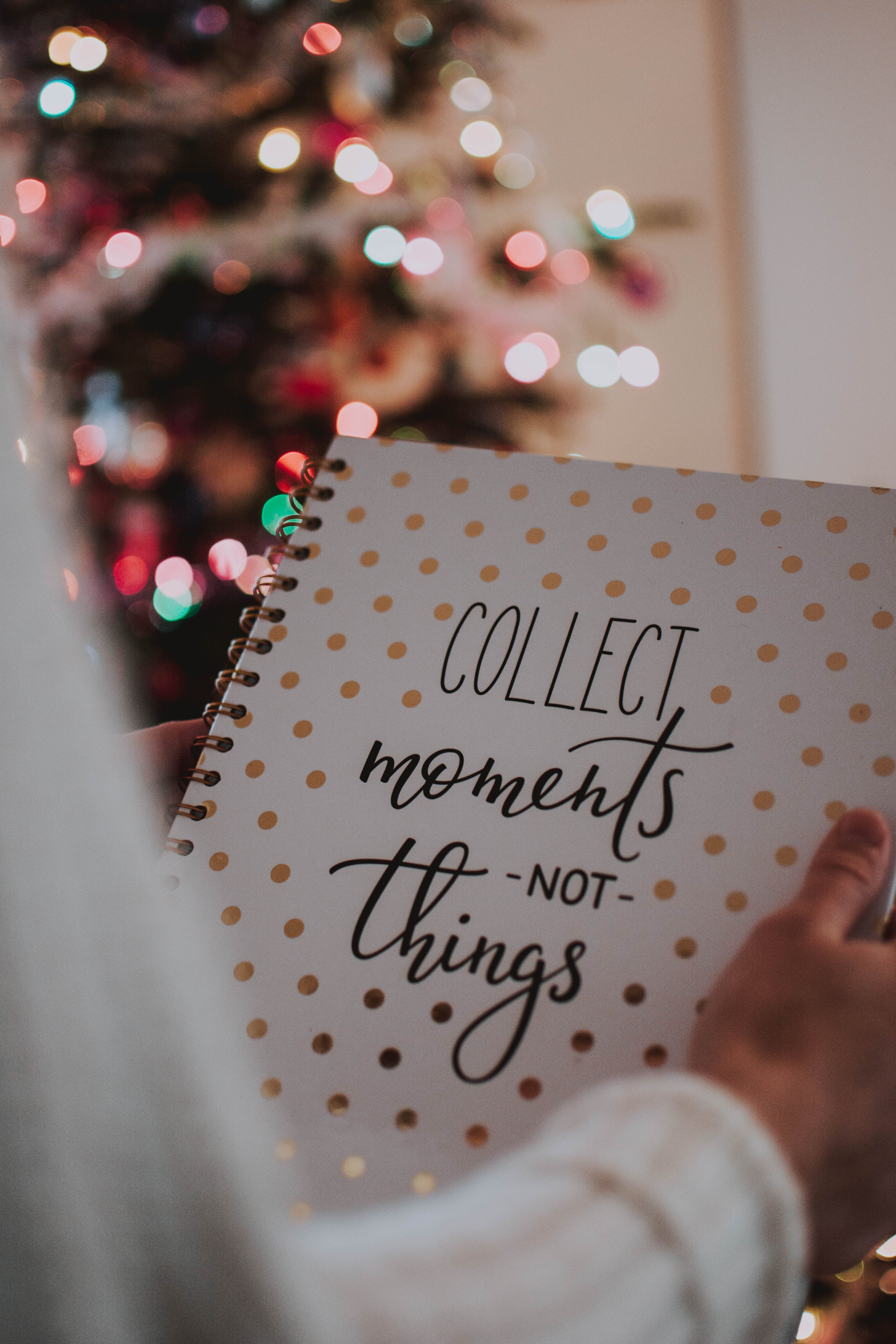 Collect Moments Not Things Spiral Notebook