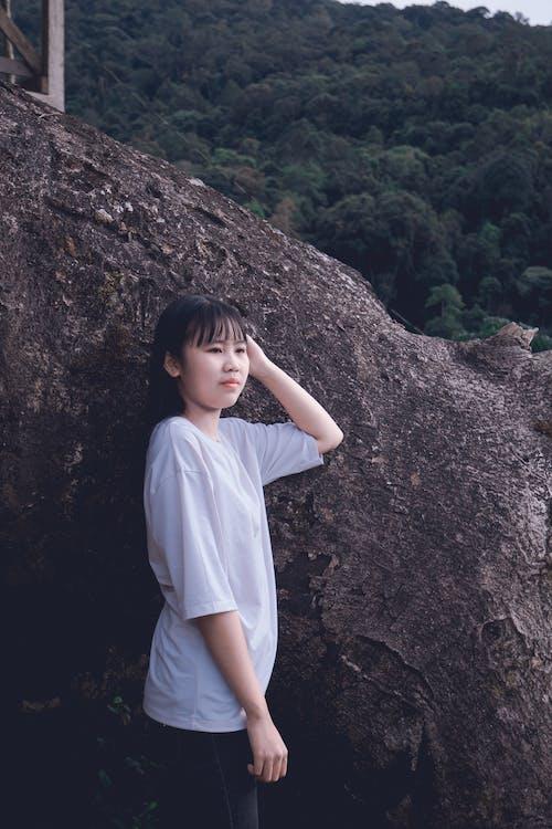 aasialainen nainen, ilme, kaunis