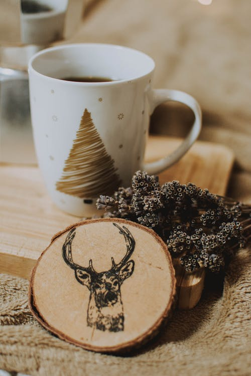 Black Deer Pyrography Art on Wood