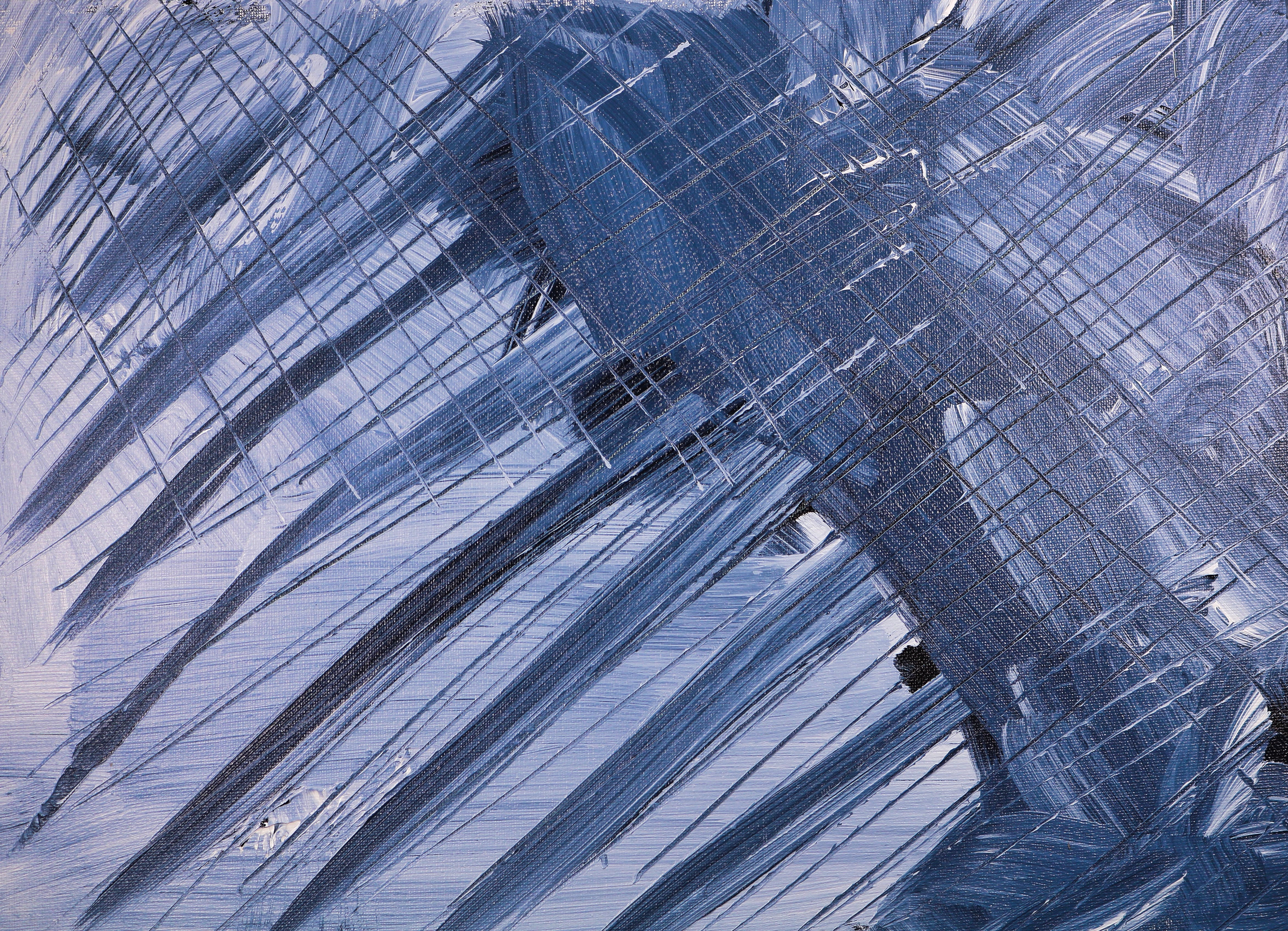 Grey And Blue Painting