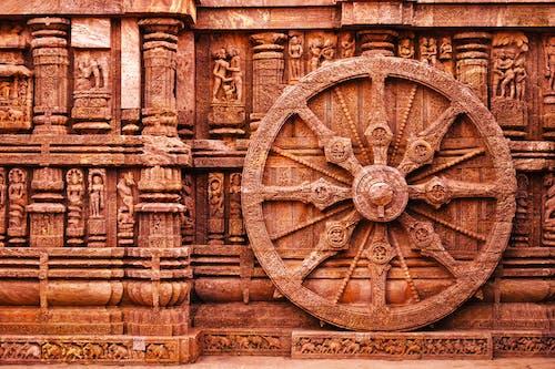 Brown Wheel Hieroglyphics