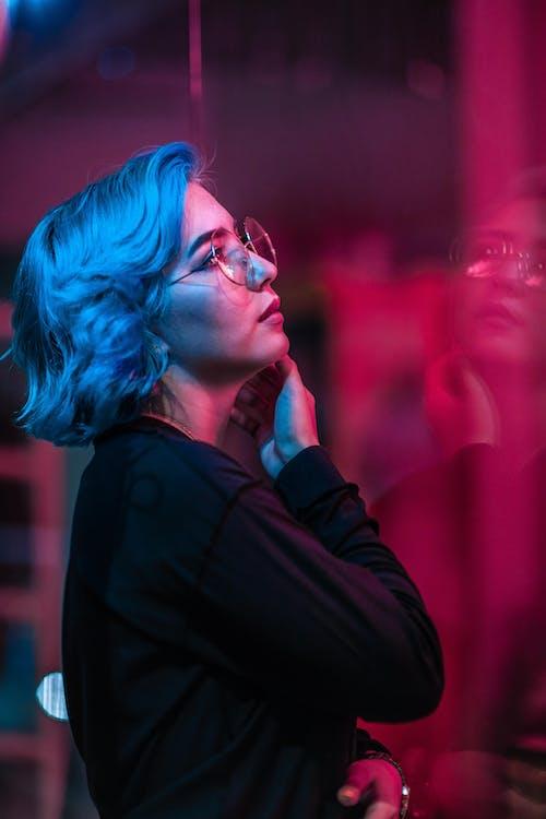 gözlük, güzel, güzellik, Kadın içeren Ücretsiz stok fotoğraf