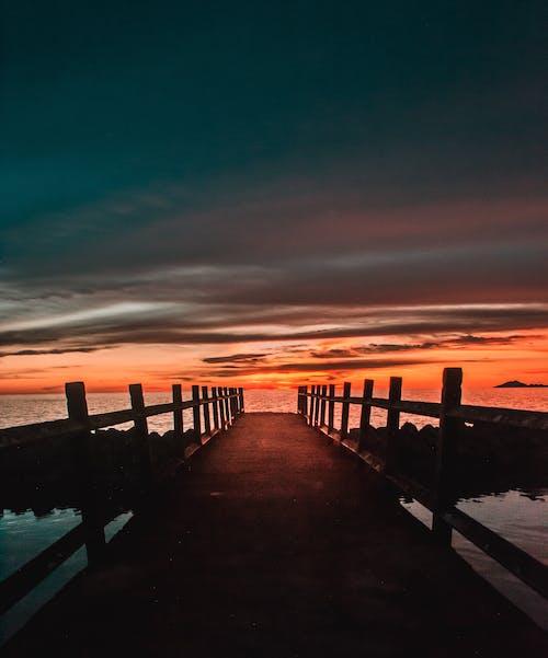 Δωρεάν στοκ φωτογραφιών με Ανατολή ηλίου, αποβάθρα, αυγή, δύση του ηλίου