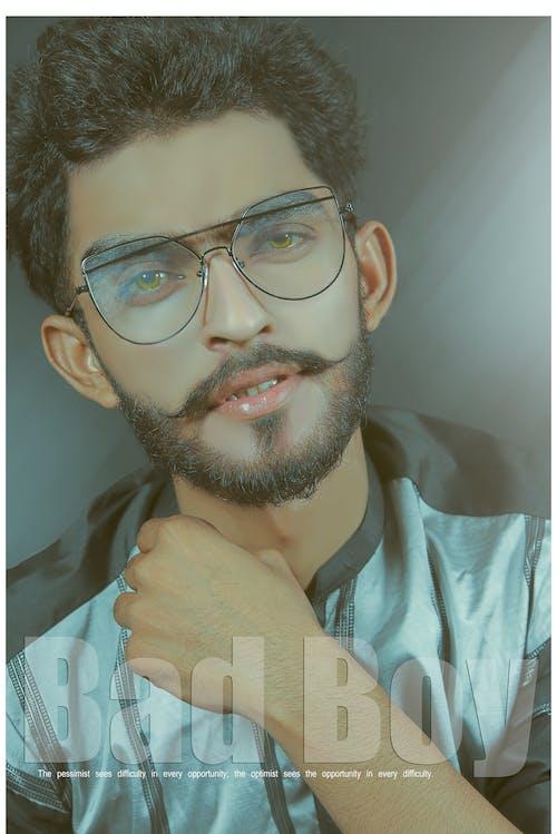 Imagine de stoc gratuită din alb-negru, barbă