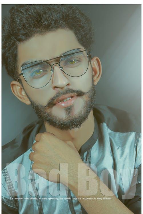 black and white, full beard