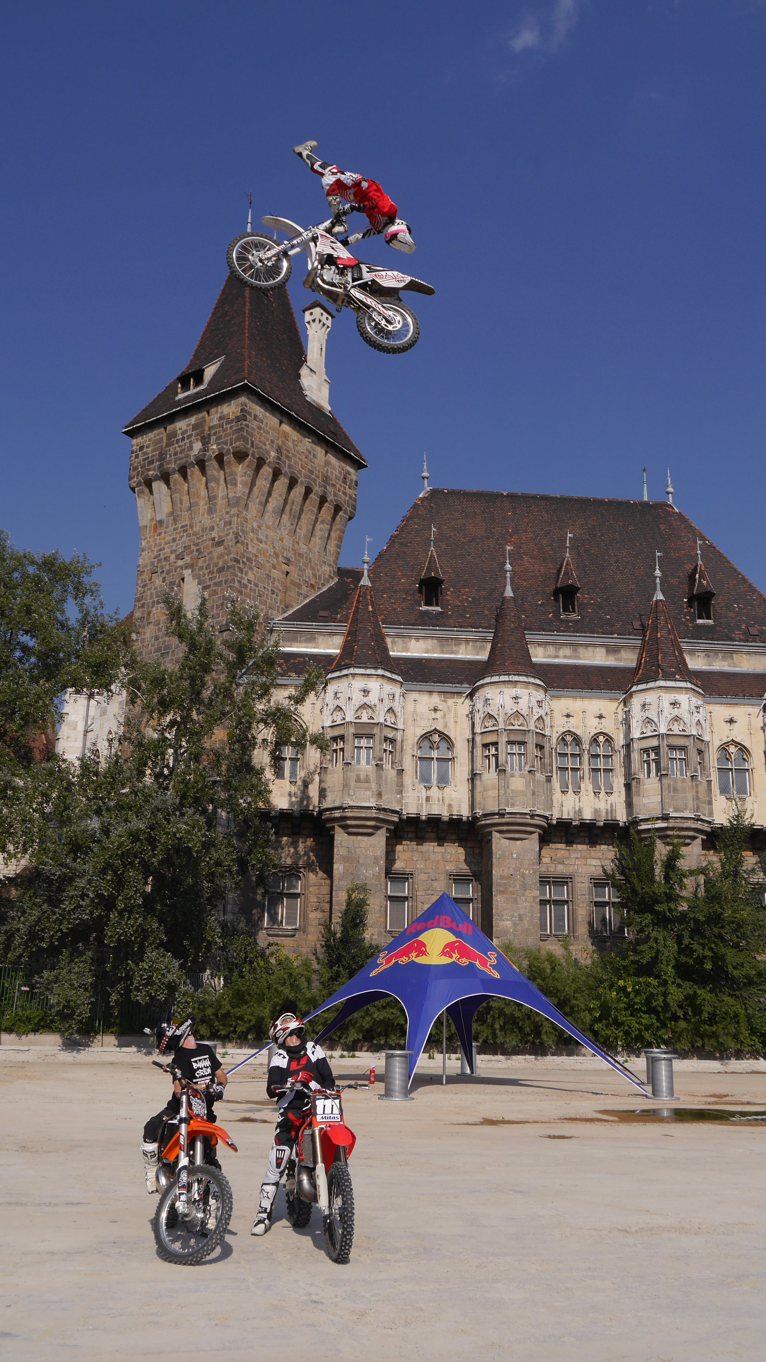Free stock photo of castle, fmx, jump, red bull