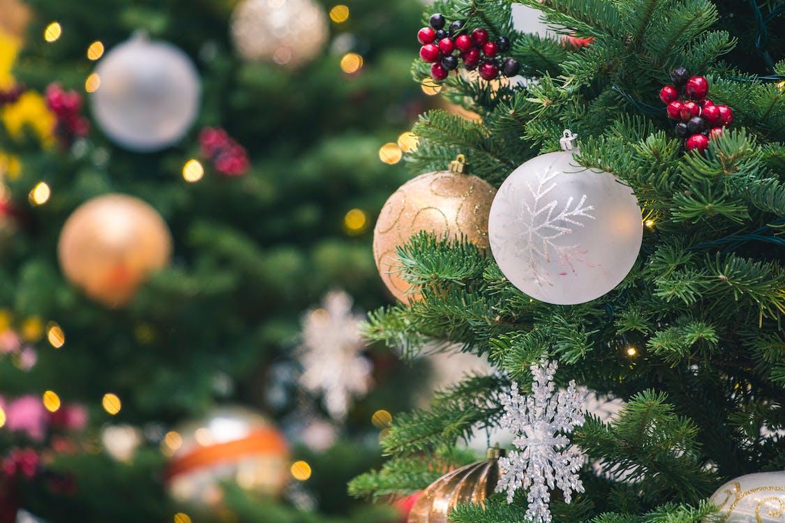 albero di natale, appeso, decorazioni natalizie