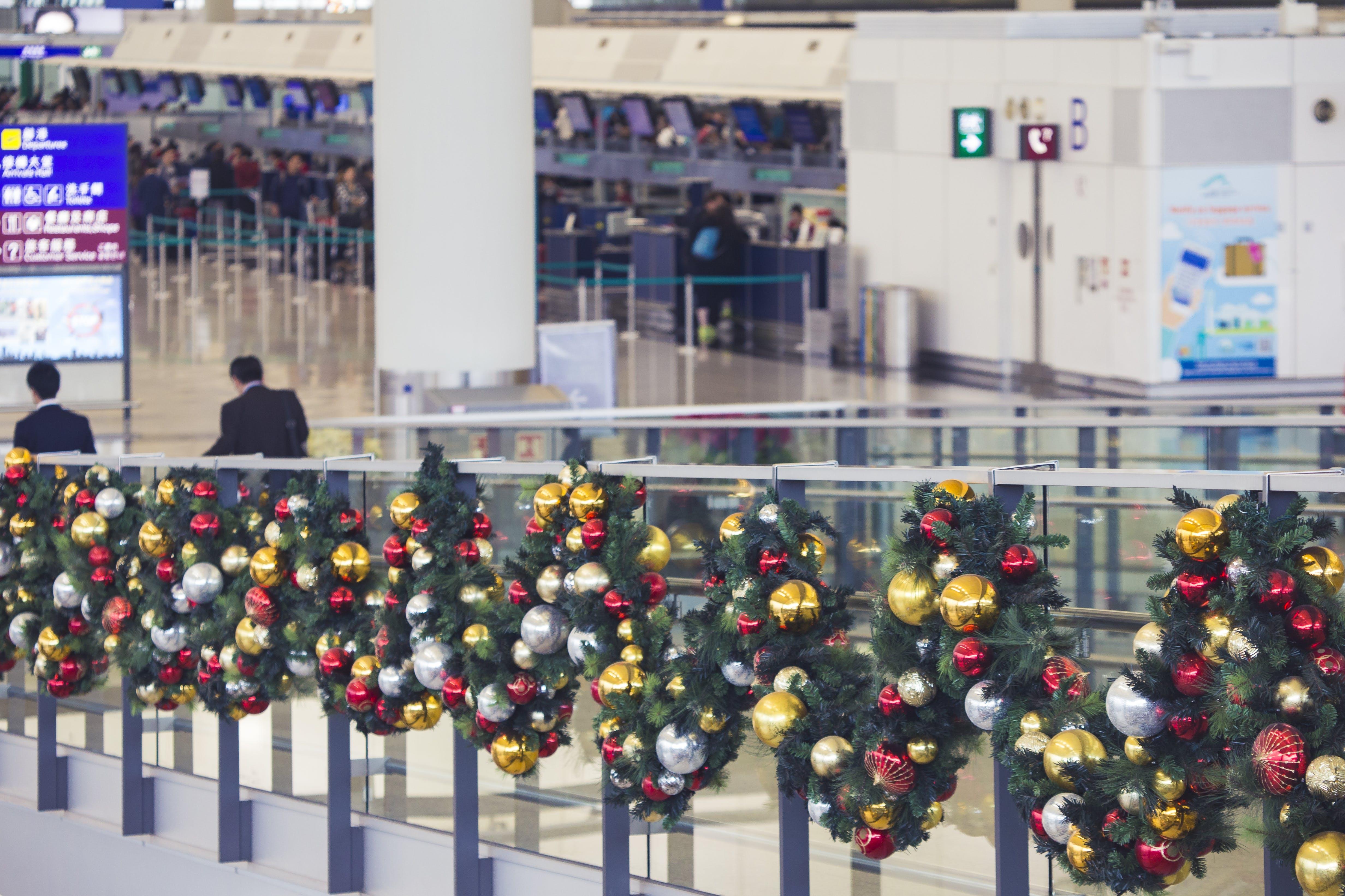 Free stock photo of airport, christmas, hong kong