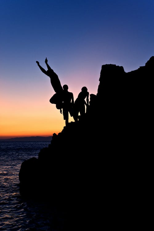 Безкоштовне стокове фото на тему «блакитне небо, відпустка, Захід сонця, люди»