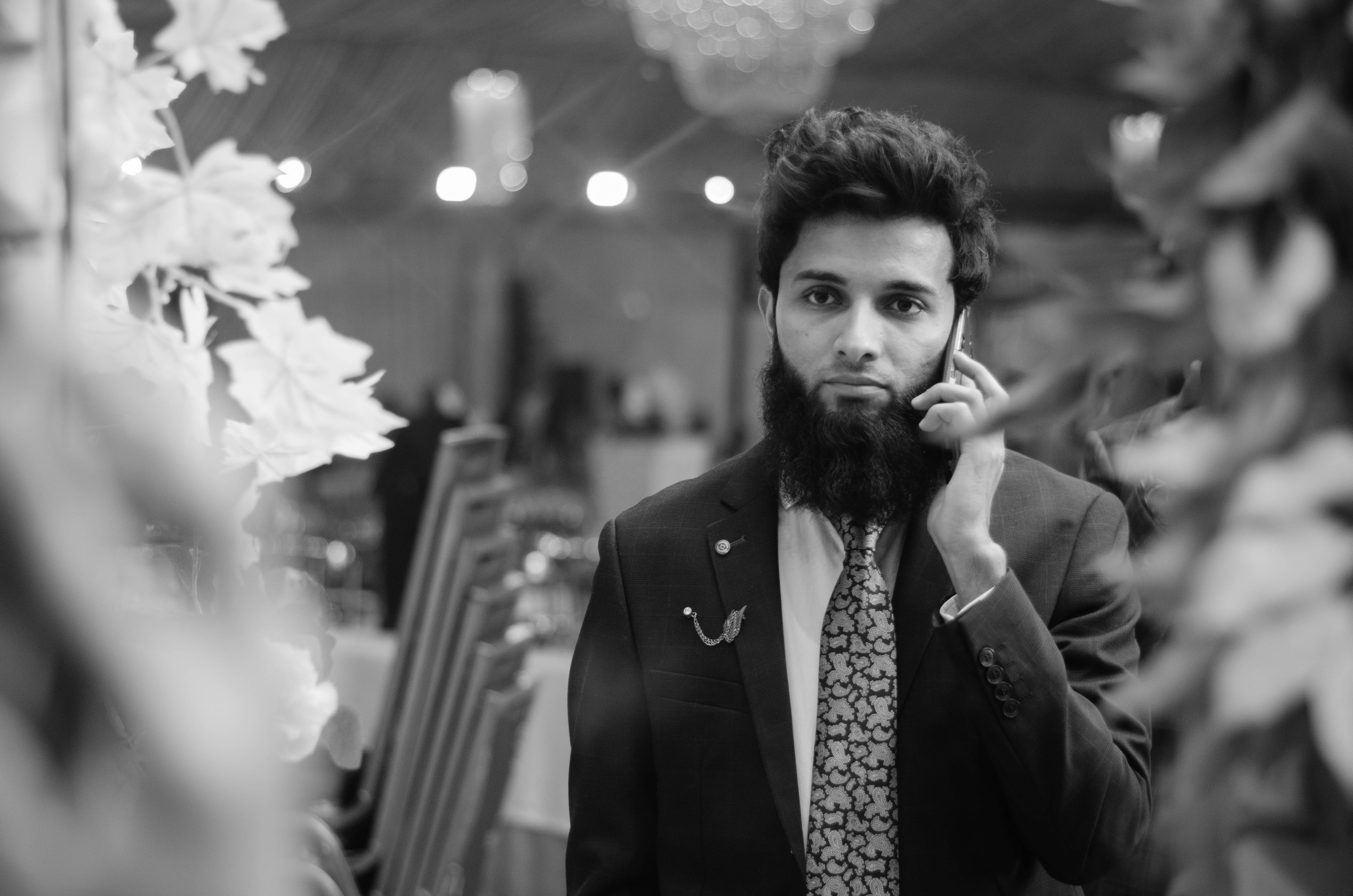 Free stock photo of beard, beard guy, black and white, black and-white