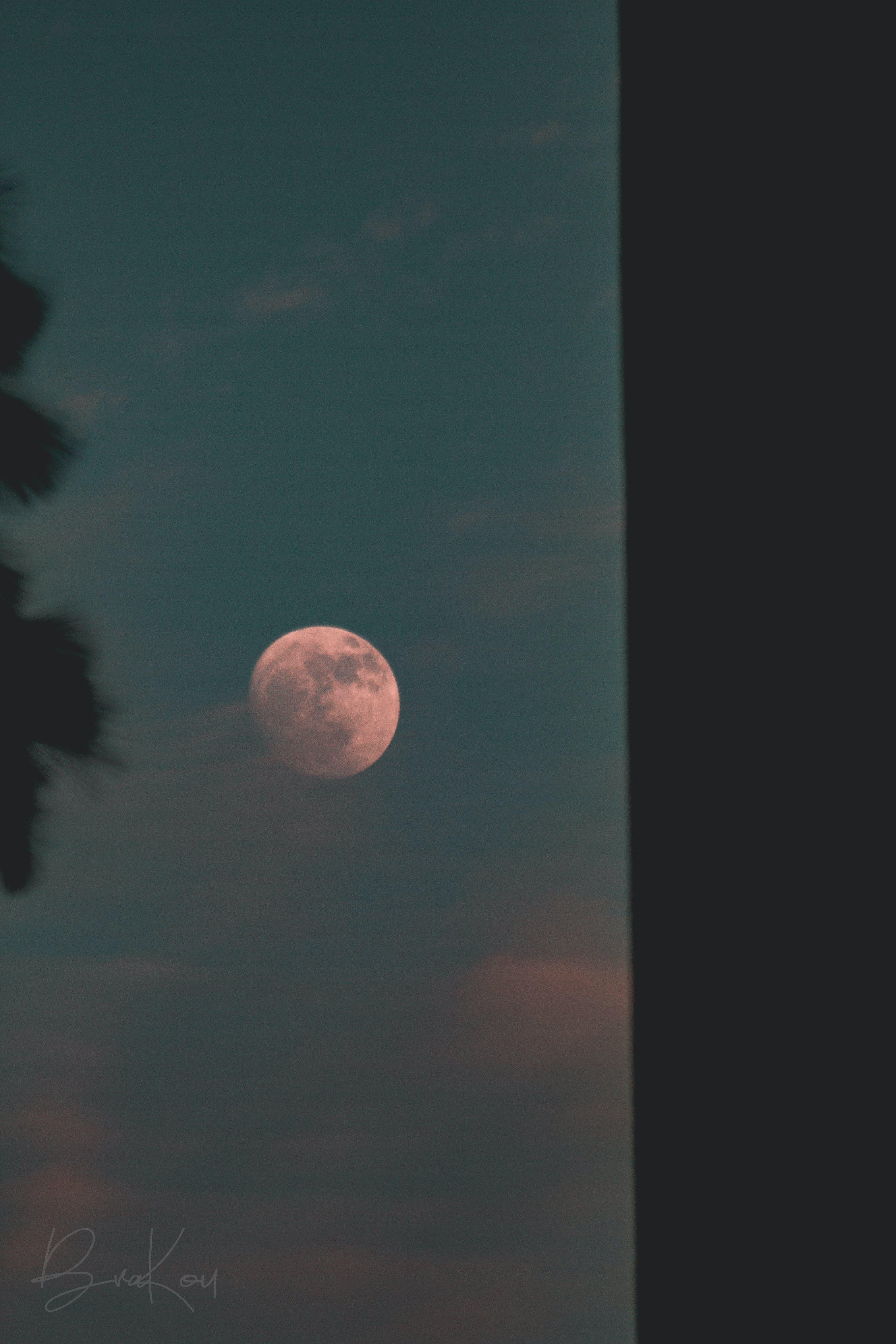 aften, aftenhimmel, blå