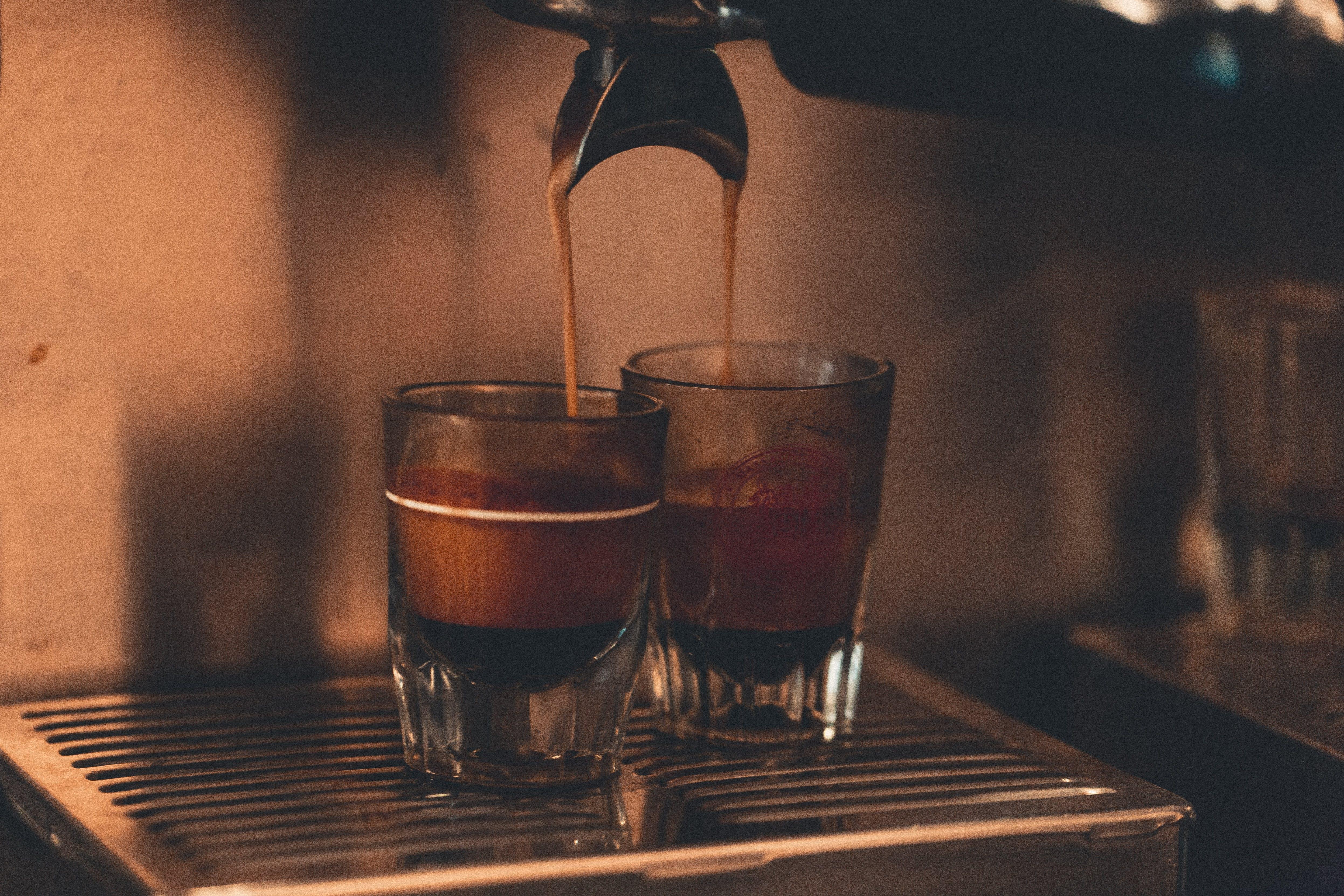 Clear Espresso Glasses