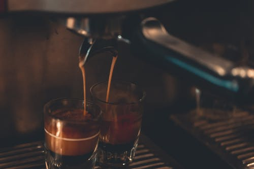 Two Cups Under Espresso Maker