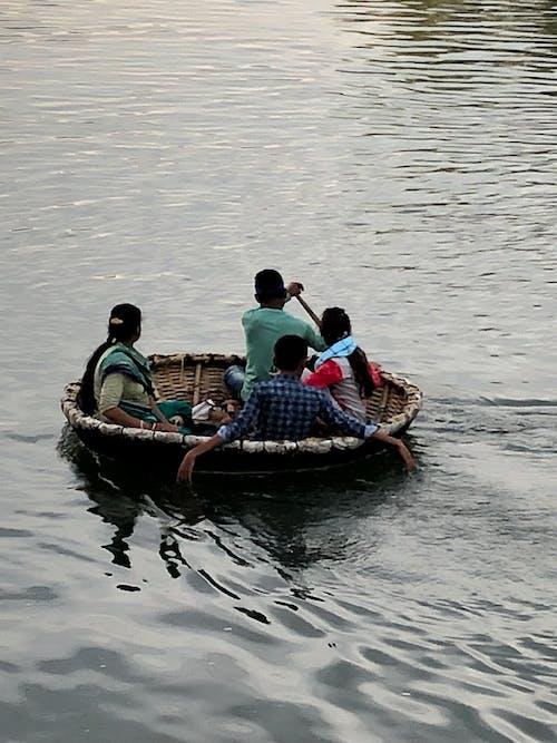 人, 划船, 利热, 印度 的 免费素材照片