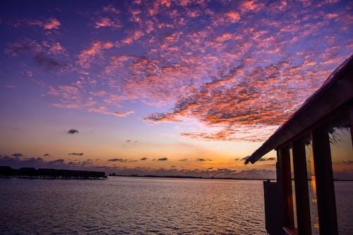 Foto d'estoc gratuïta de alba, bonic, capvespre, cos d'aigua