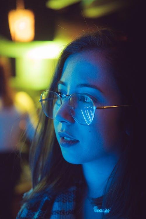 Woman Wearing Eyeglasses Selective Focus Photography