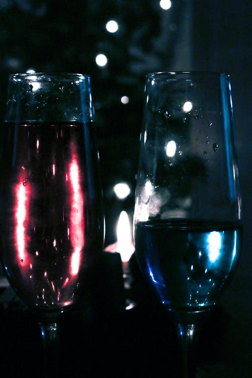 Free stock photo of christmas, sparkling wine, stained glass