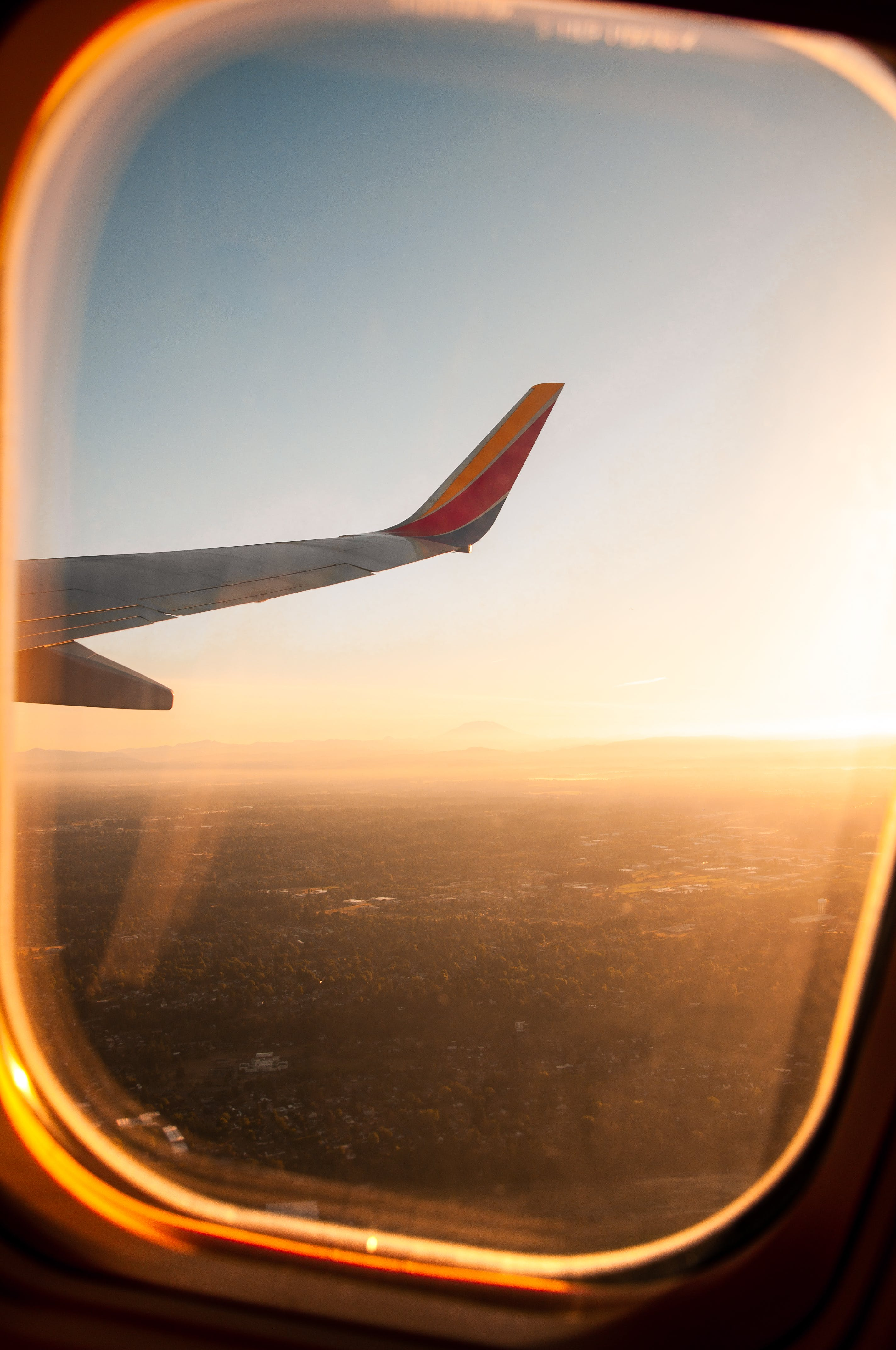 Aerial Photography from Plane Window