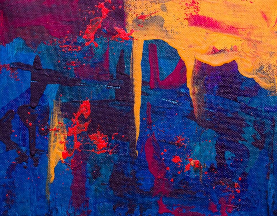 abstraktní obraz, akrylová malba, barevný