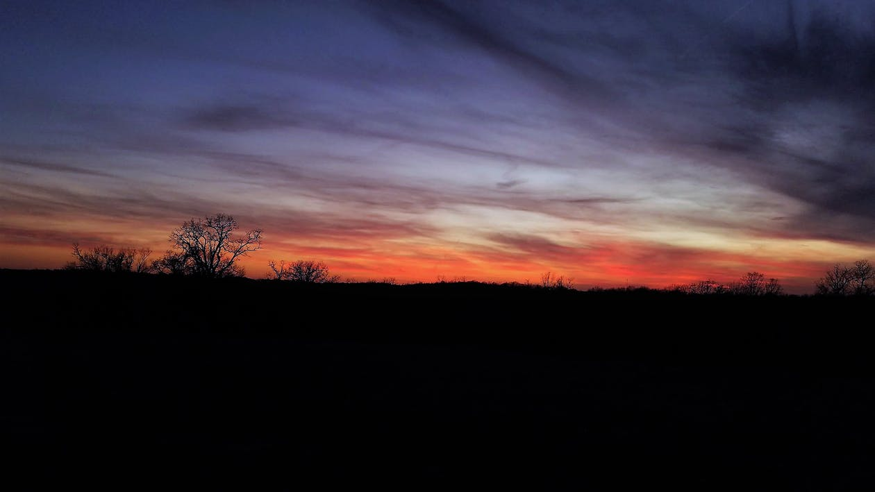 auringonlasku, iltahämärä, laskeva aurinko