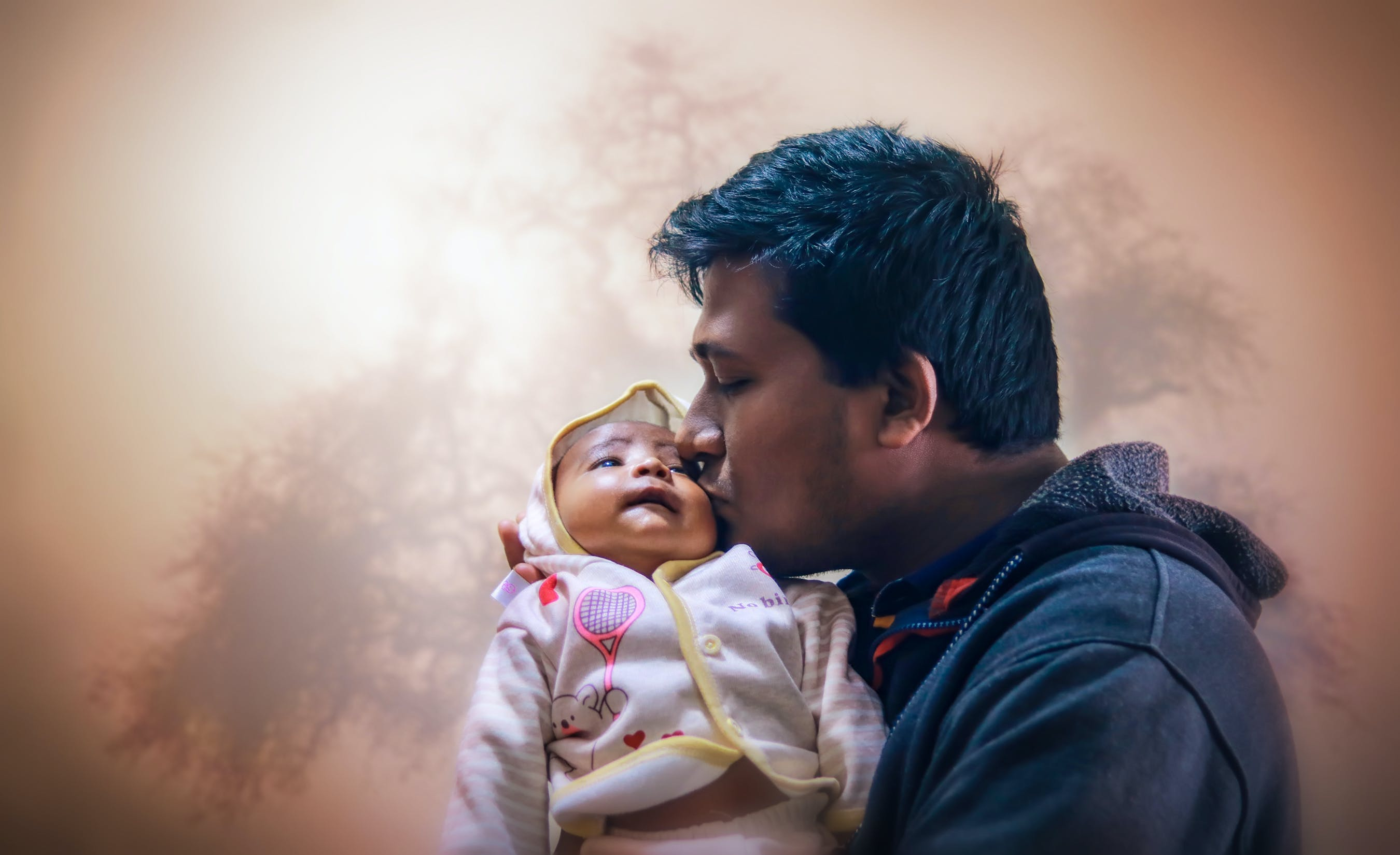Free stock photo of baby, blur, cute, dad
