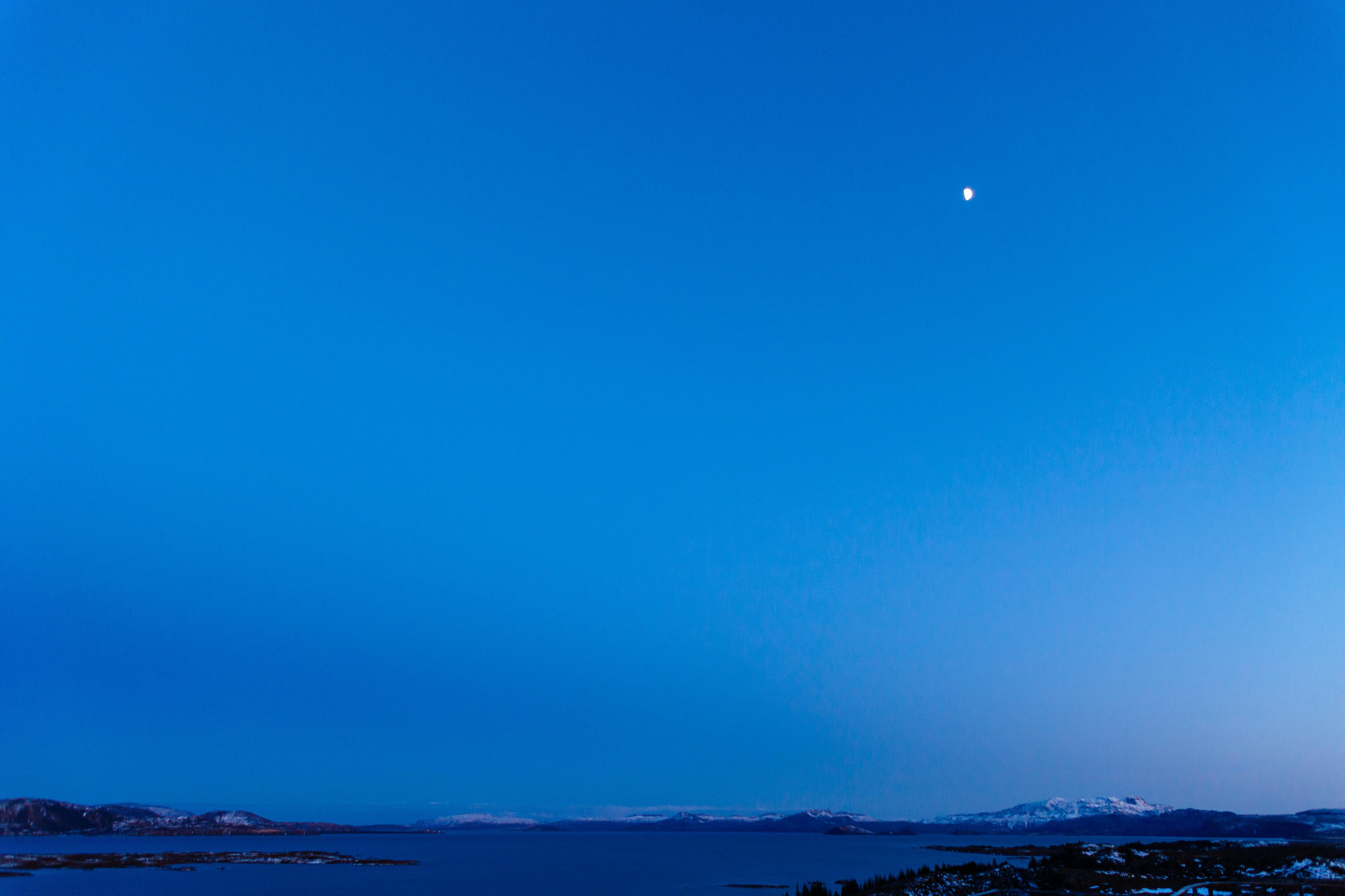 ay, gece, Hilal, mavi içeren Ücretsiz stok fotoğraf