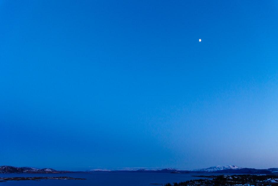 blue, crescent, half-moon