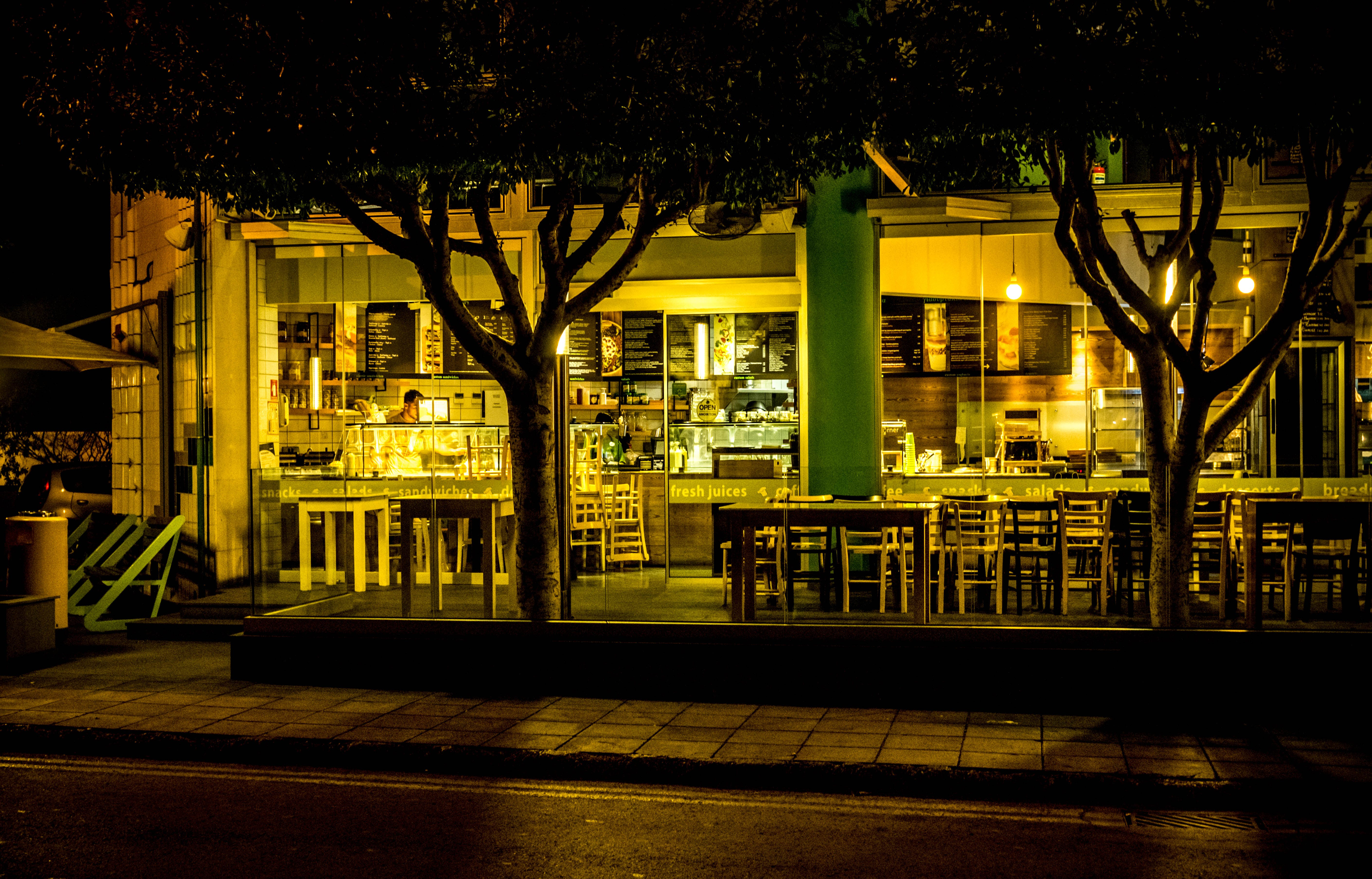 Store Front at Nighttime