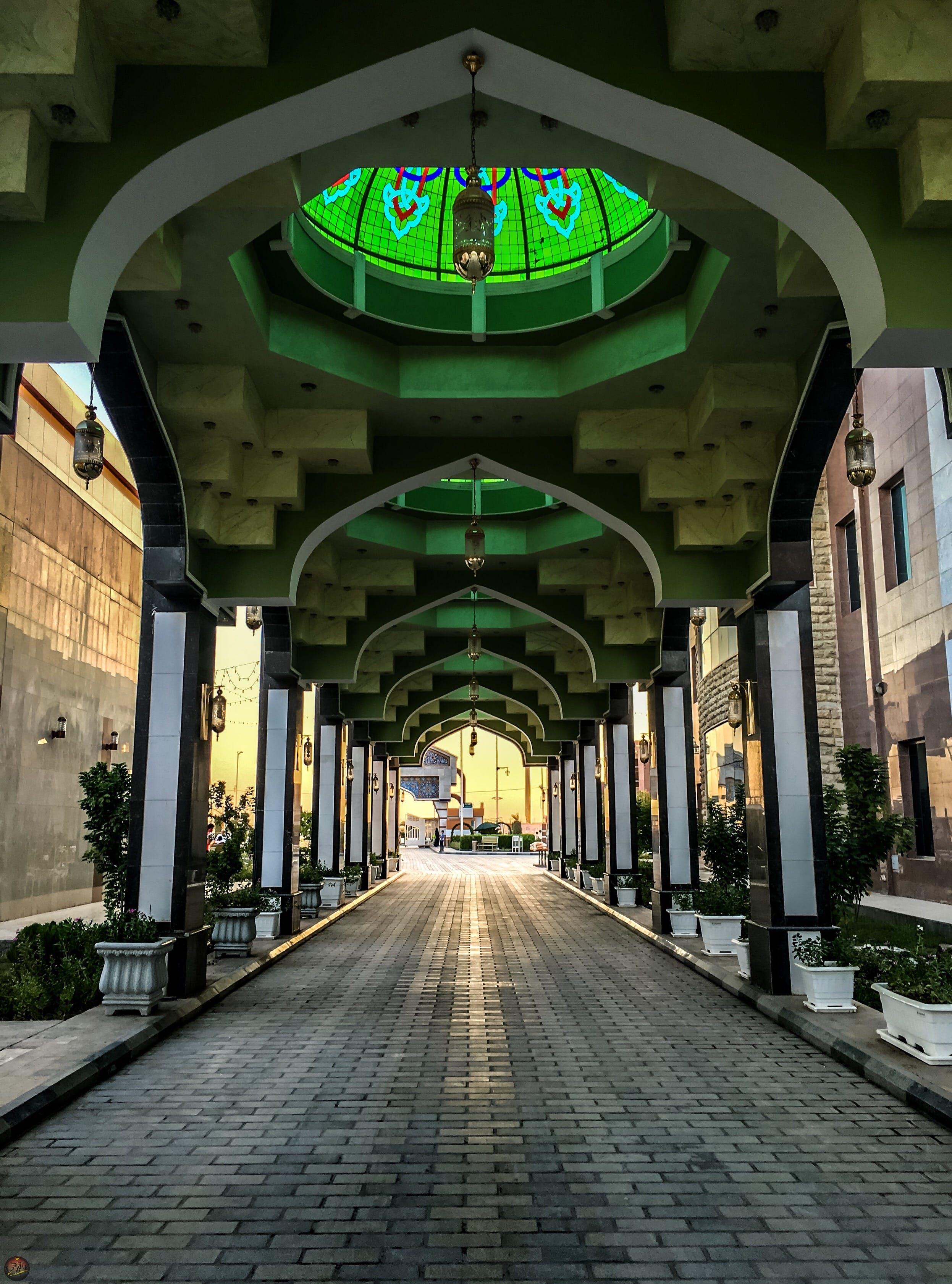 Free stock photo of architecture, culture, dark green, empty street