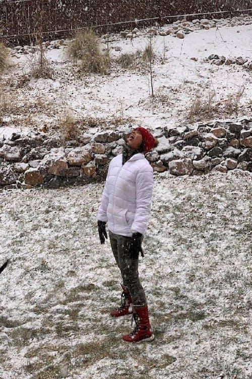 Free stock photo of girl in snow, Sarasota, snow fall