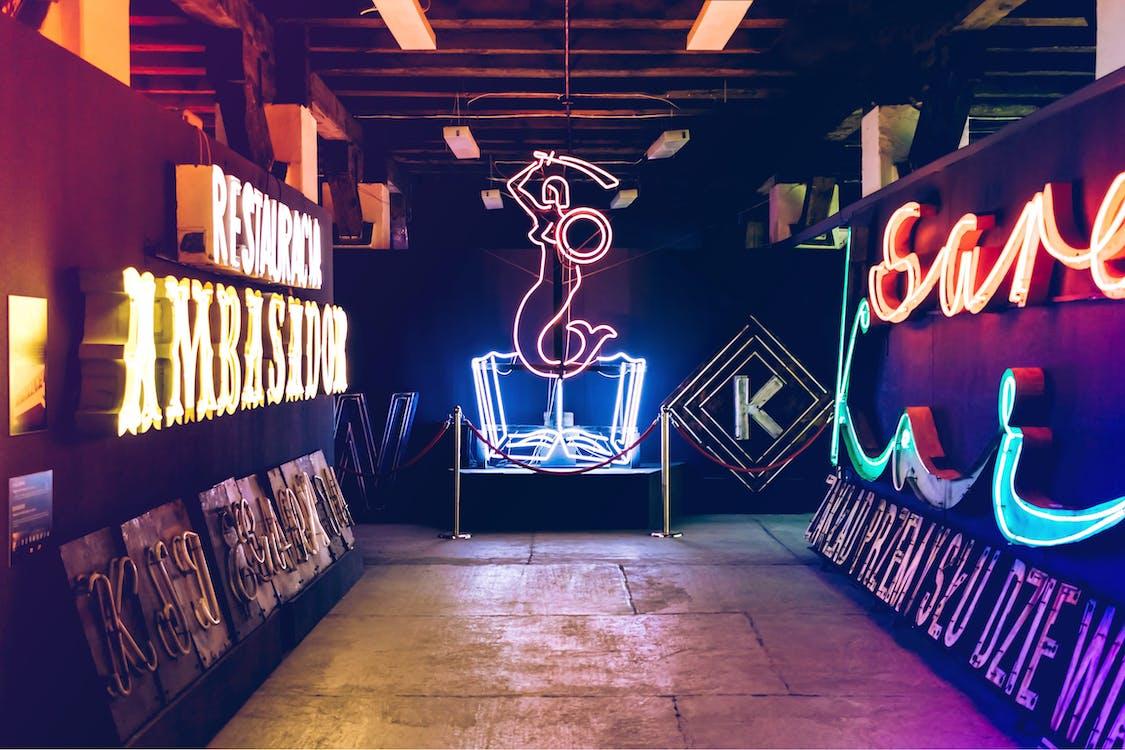 huone, neon, neon museo