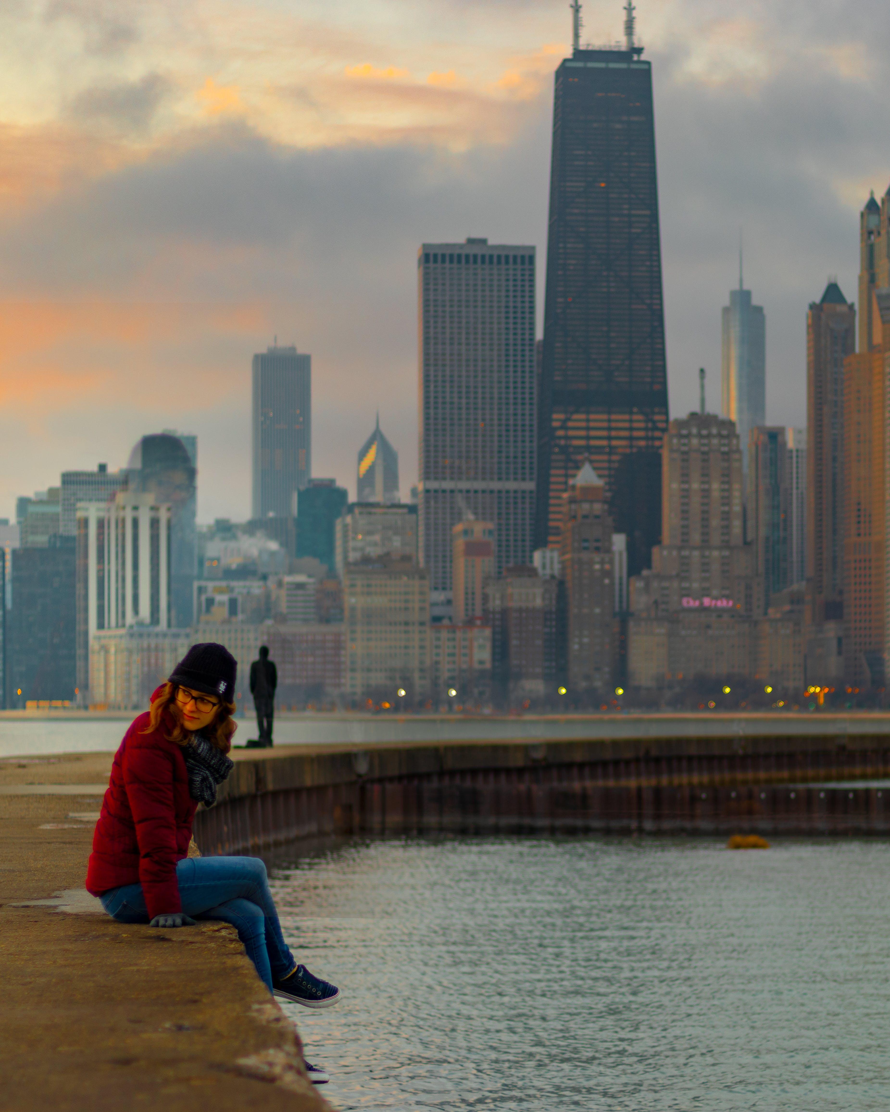 Free stock photo of chicago, city, potrait, skyline
