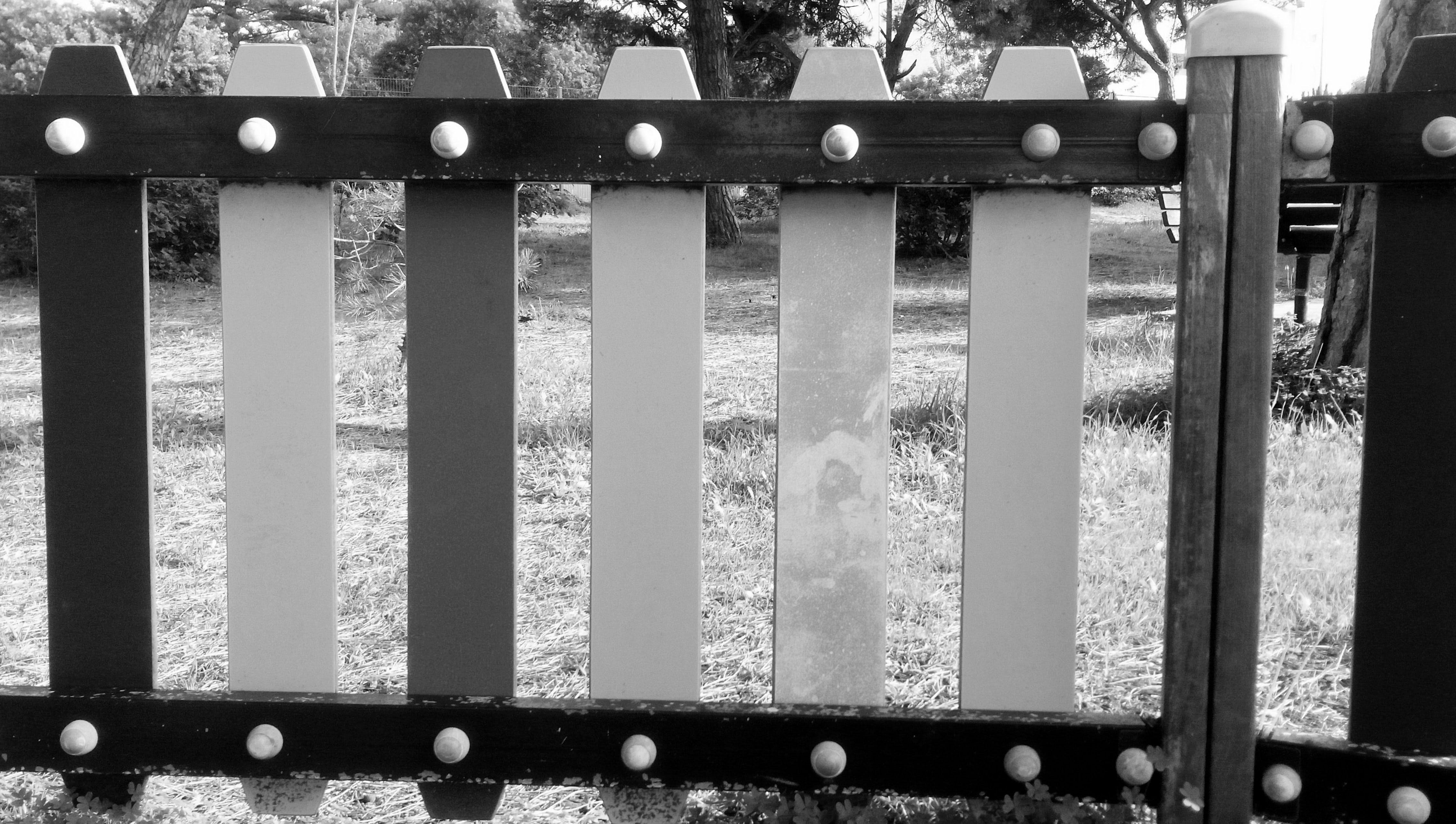 Free stock photo of barricade, barrier, black and white, enclosure