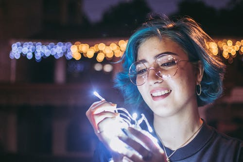 led 燈, 墨鏡, 太陽眼鏡, 女人 的 免費圖庫相片