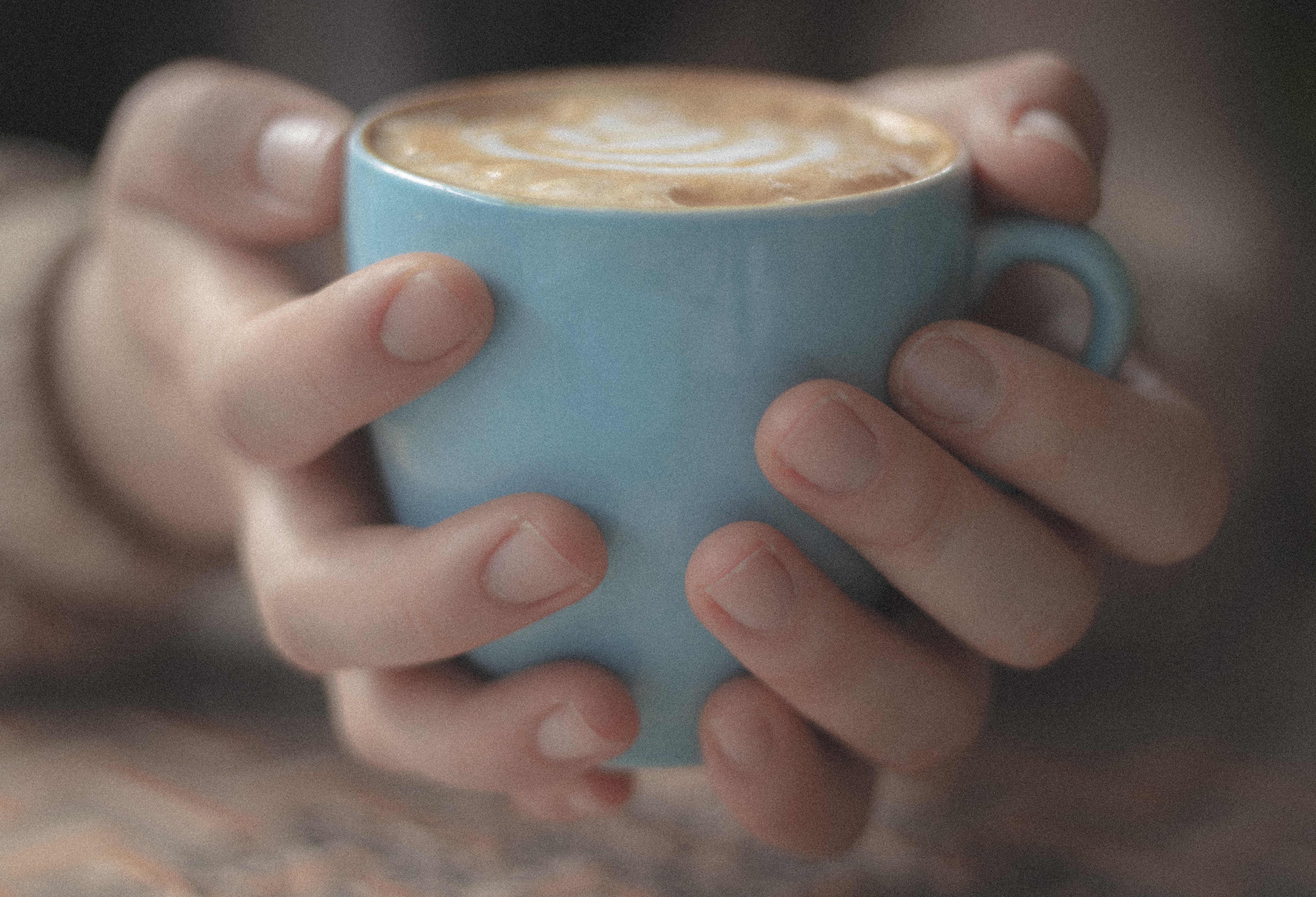 Free stock photo of blue, cup, hands