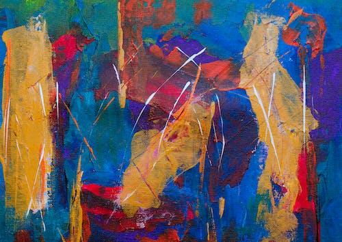 丙烯酸塗料, 帆布, 抽象繪畫, 牆藝術 的 免費圖庫相片
