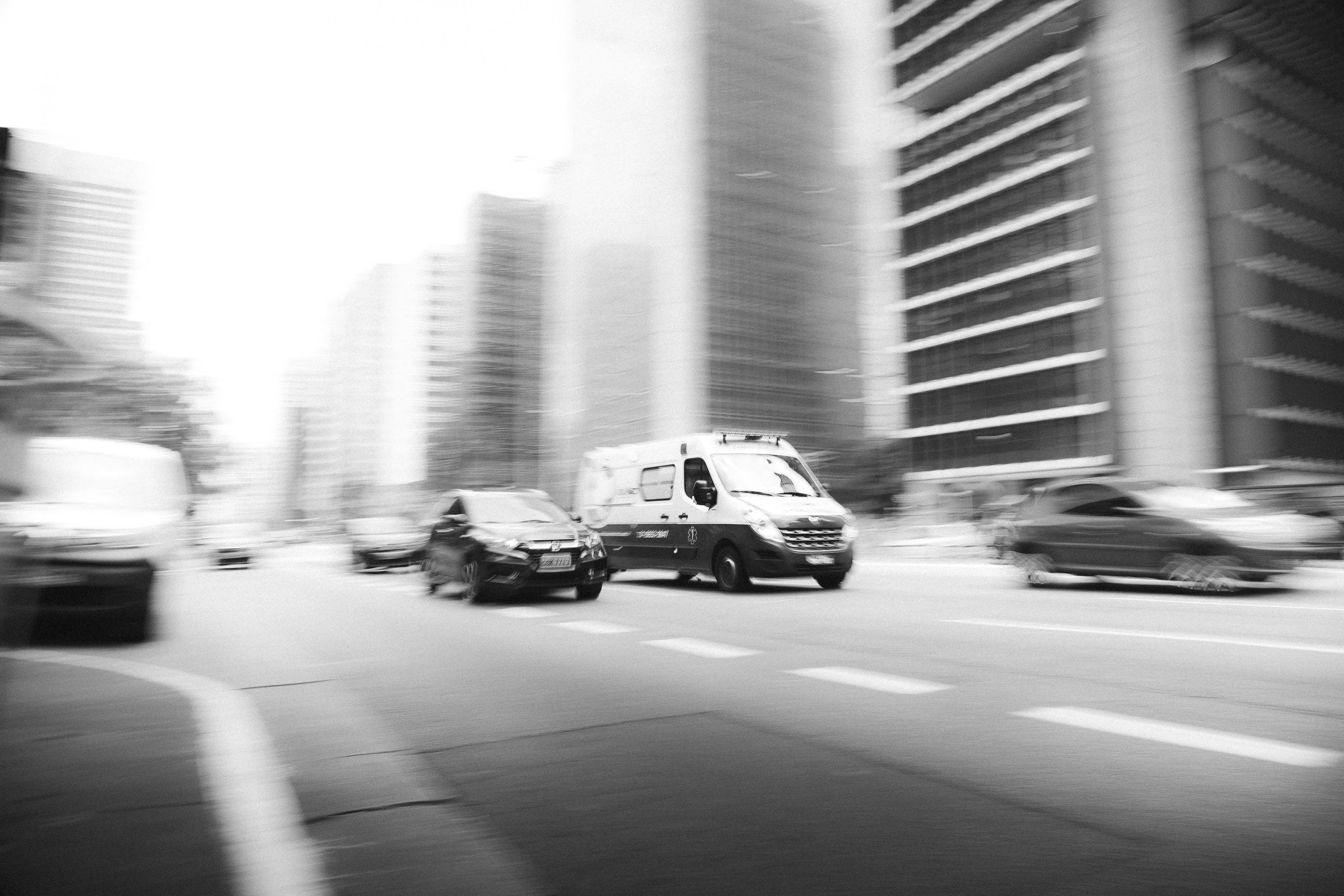 Free stock photo of ambulance, car, panning