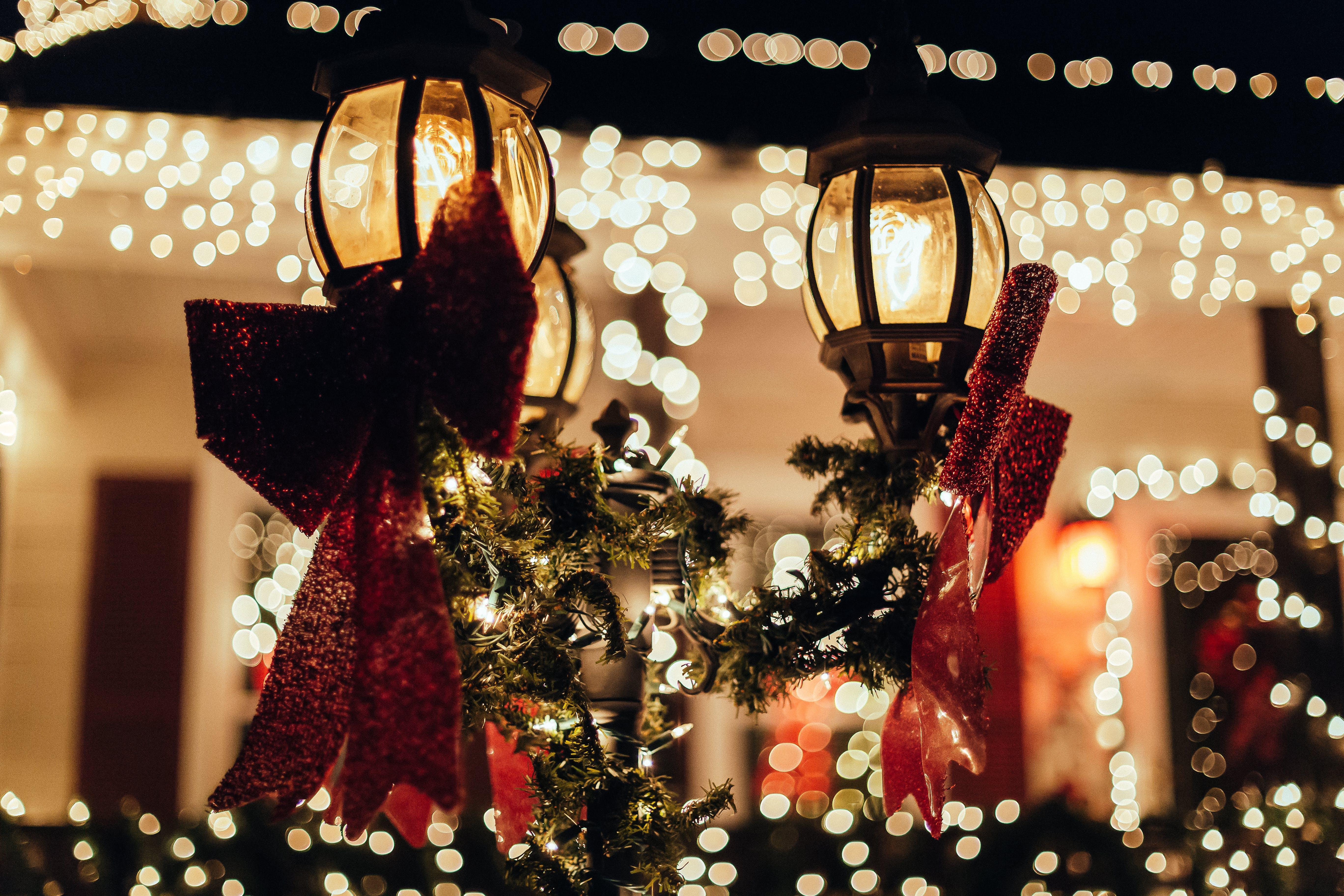 Noel dekoru içeren Ücretsiz stok fotoğraf