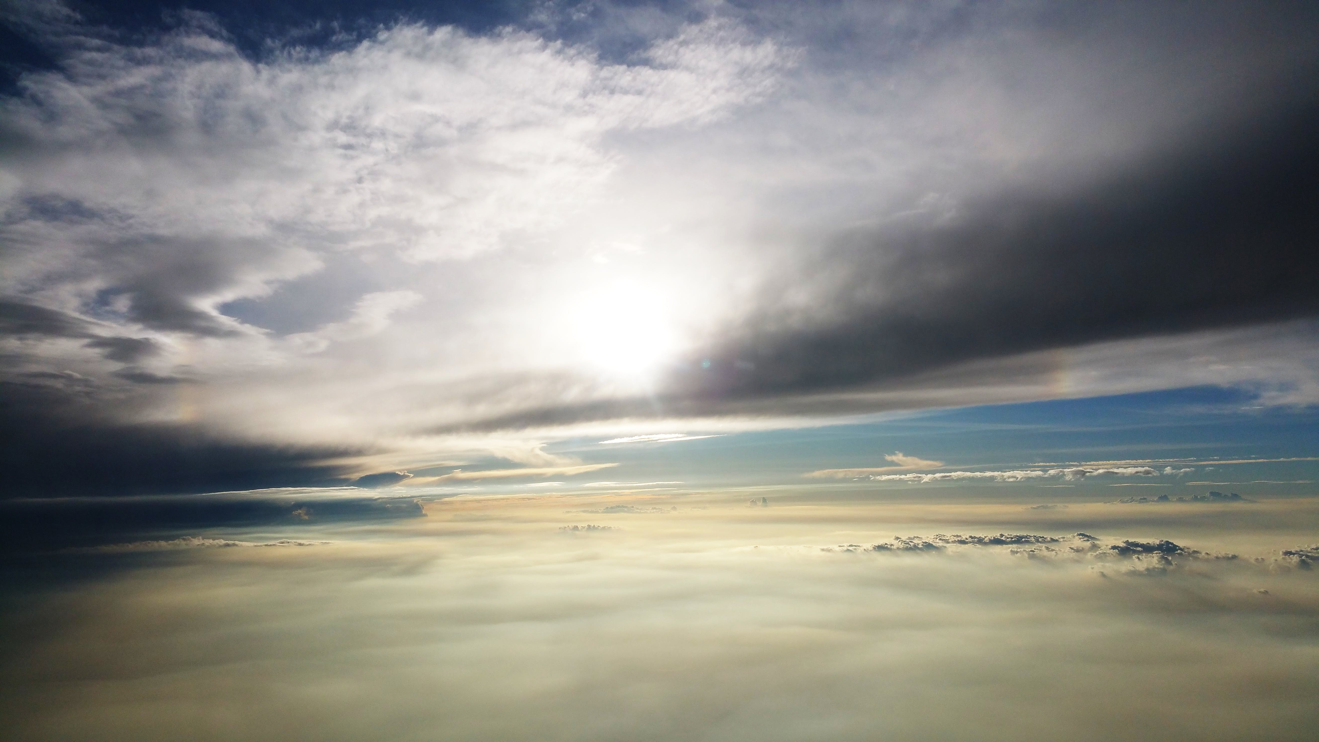 Sea Clouds Photography during Daytime