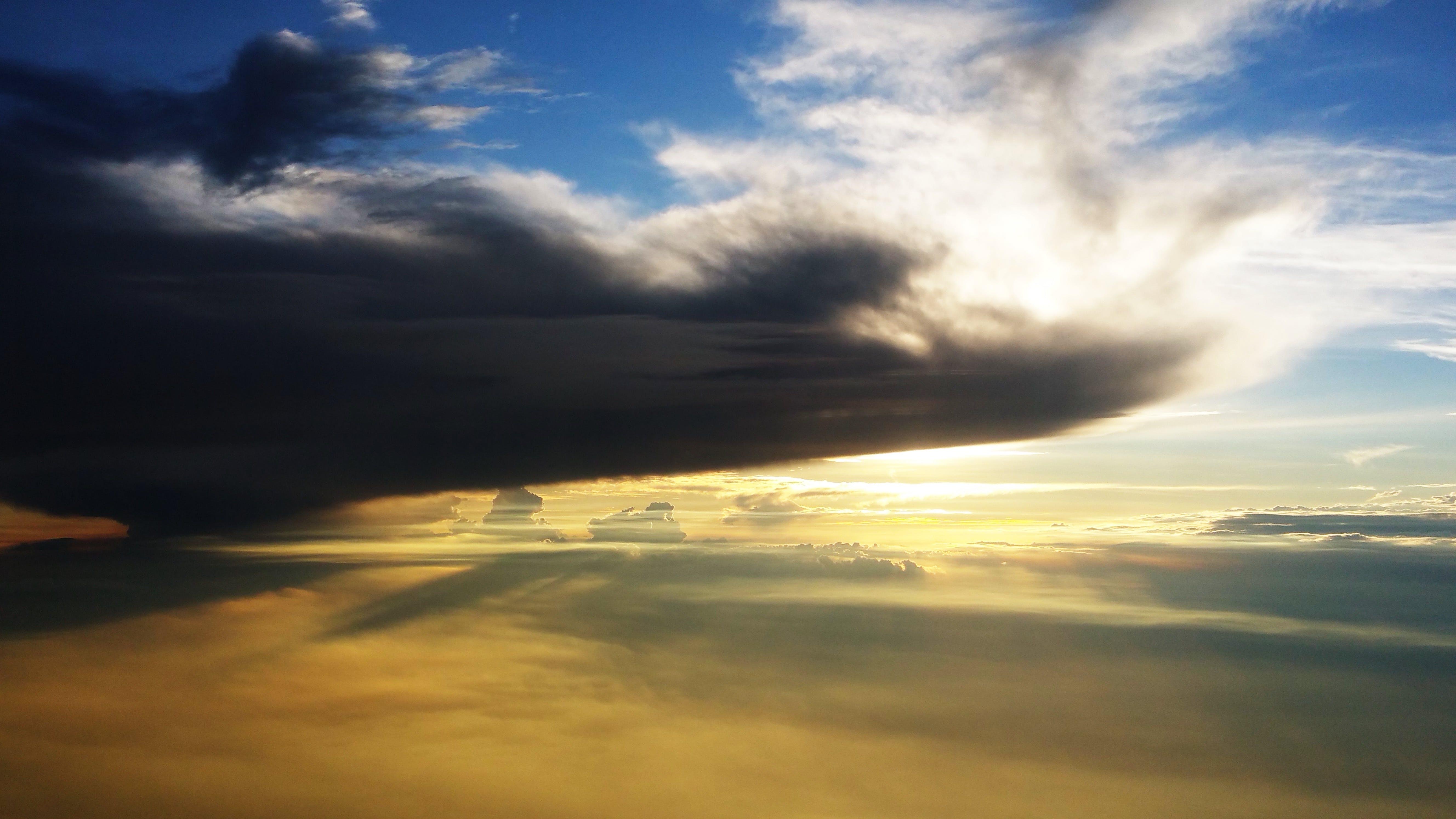Ingyenes stockfotó a felhők felett, drámai, ég, felhőforma témában